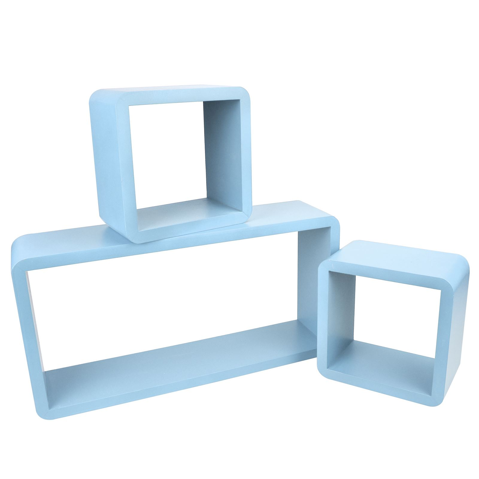 3pc-Set-Rectangle-Floating-Shelves-Wall-Mount-Storage-Book-Shelf-DVD-CD-Stand thumbnail 12