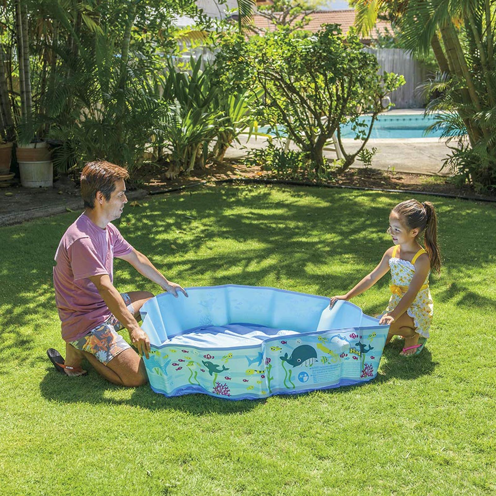 Centro-De-Juegos-De-Natacion-Ninos-Ridgid-Pared-piscina-infantil-Mar-Vida-al-Aire-Libre-diversion miniatura 3