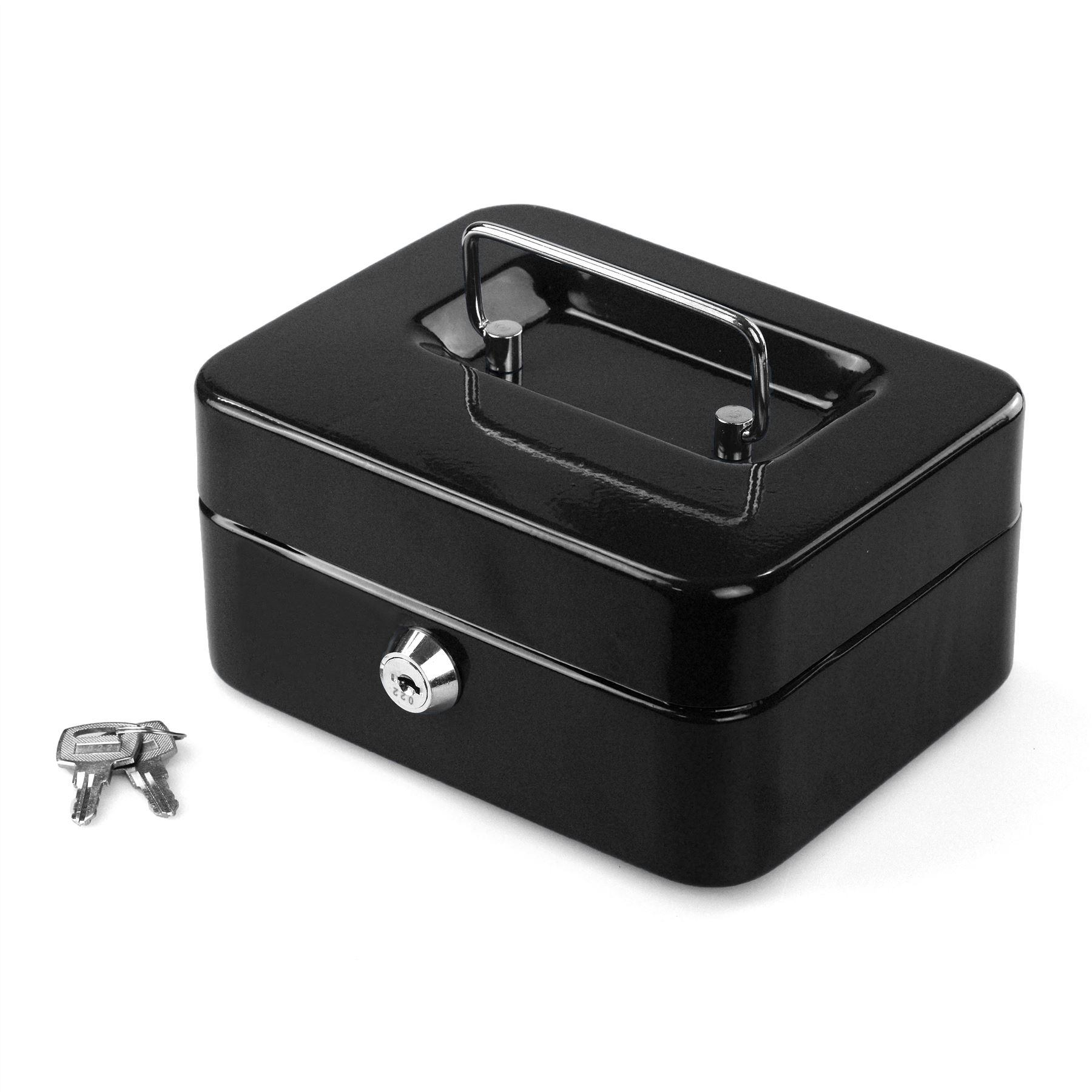 Petty-Cash-Safety-Deposit-Box-Metal-Security-Steel-Money-Bank-Coin-Tray-holder thumbnail 4