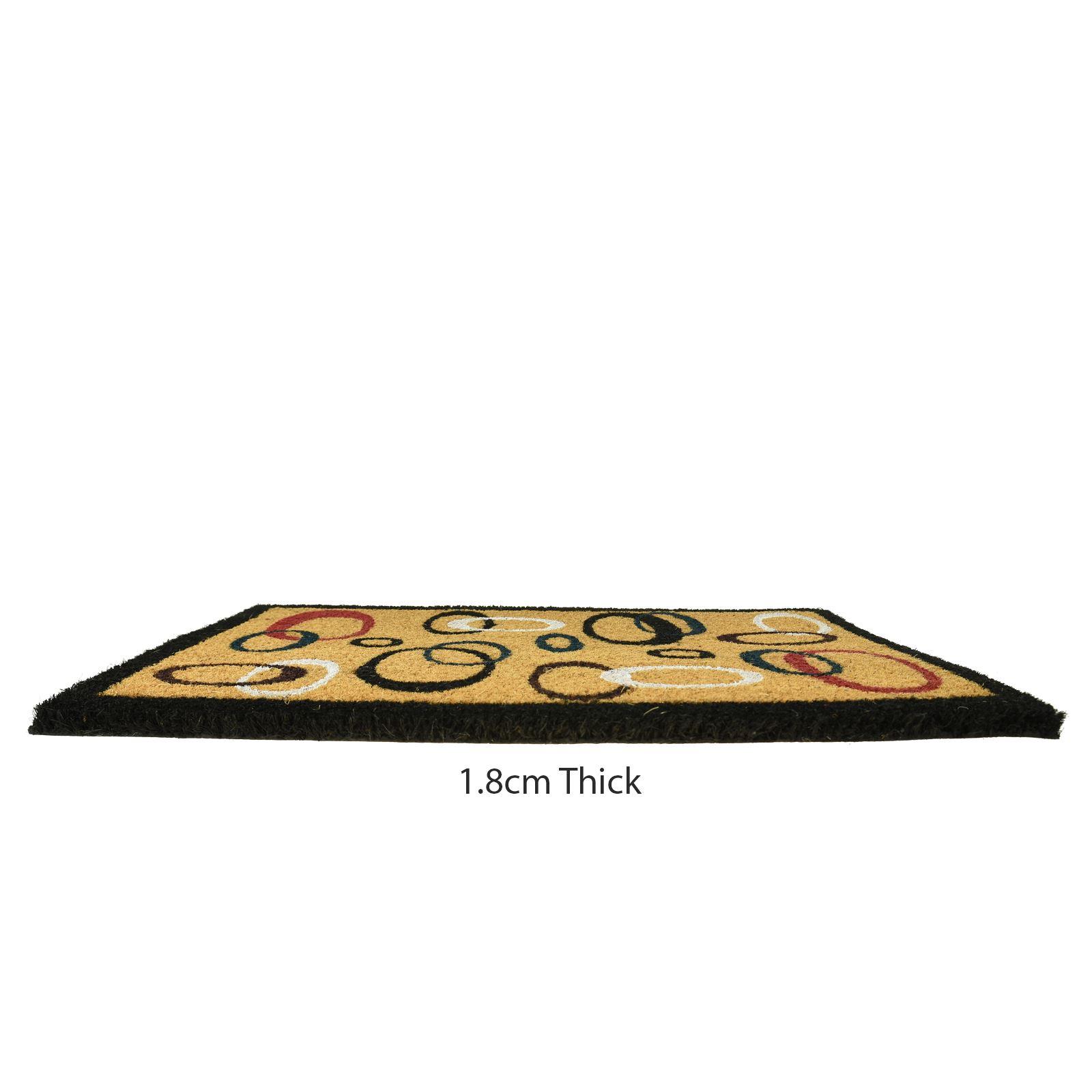 Plain-Non-Slip-Door-Mat-Tough-Natural-Coir-PVC-Back-Welcome-Doormat-40-x-60cm miniatura 33
