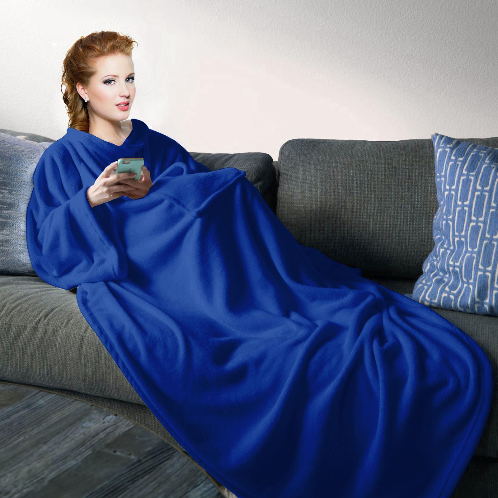 Snuggle Decke Mit ärmeln.Kuscheln Decke Snuggle Plusch Weich Fleece Wrap Mit Armel
