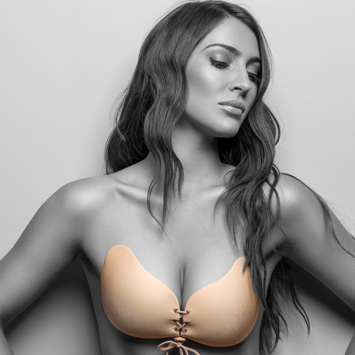 JML Star Bra Backless Strapless Stick-on Gel Bra With Lace Cleavage Control