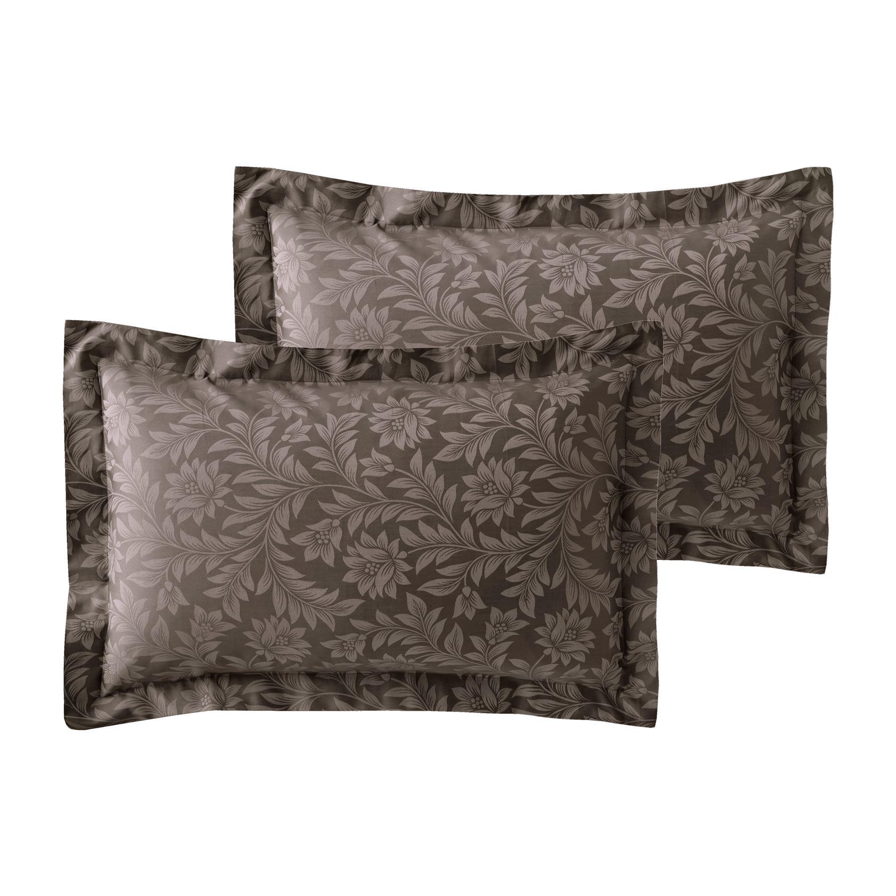 Jacquard-600-Hilos-De-Algodon-Rico-Floral-Duvet-Cover-Set-Fundas-de-almohada-Oxford miniatura 11
