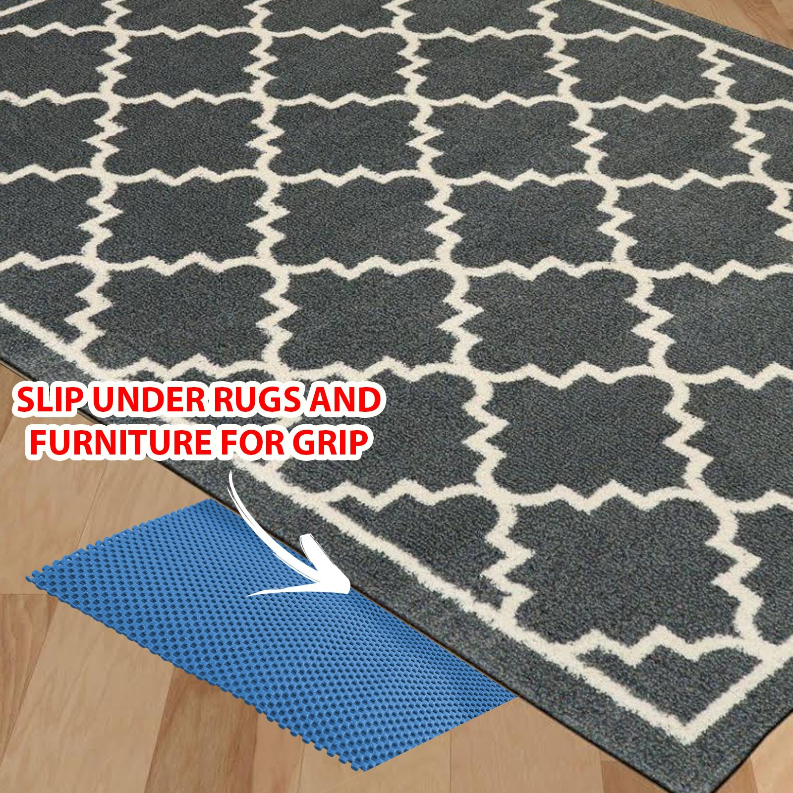 multi purpose anti non slip rubber mat drawer liner flooring gripper carpet rug ebay. Black Bedroom Furniture Sets. Home Design Ideas
