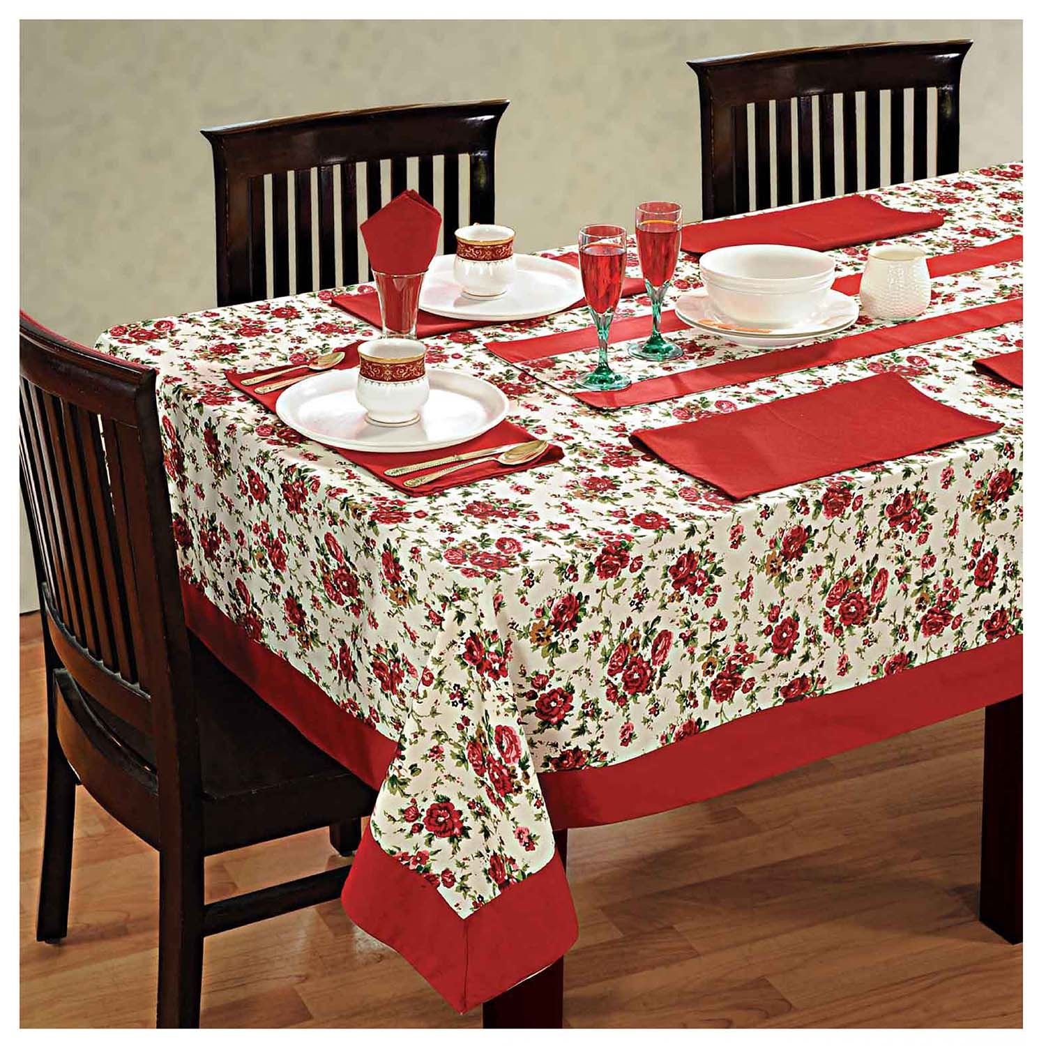 dinner party table linen set 6 seater kitchen dining tablecloth napkins cloth ebay. Black Bedroom Furniture Sets. Home Design Ideas