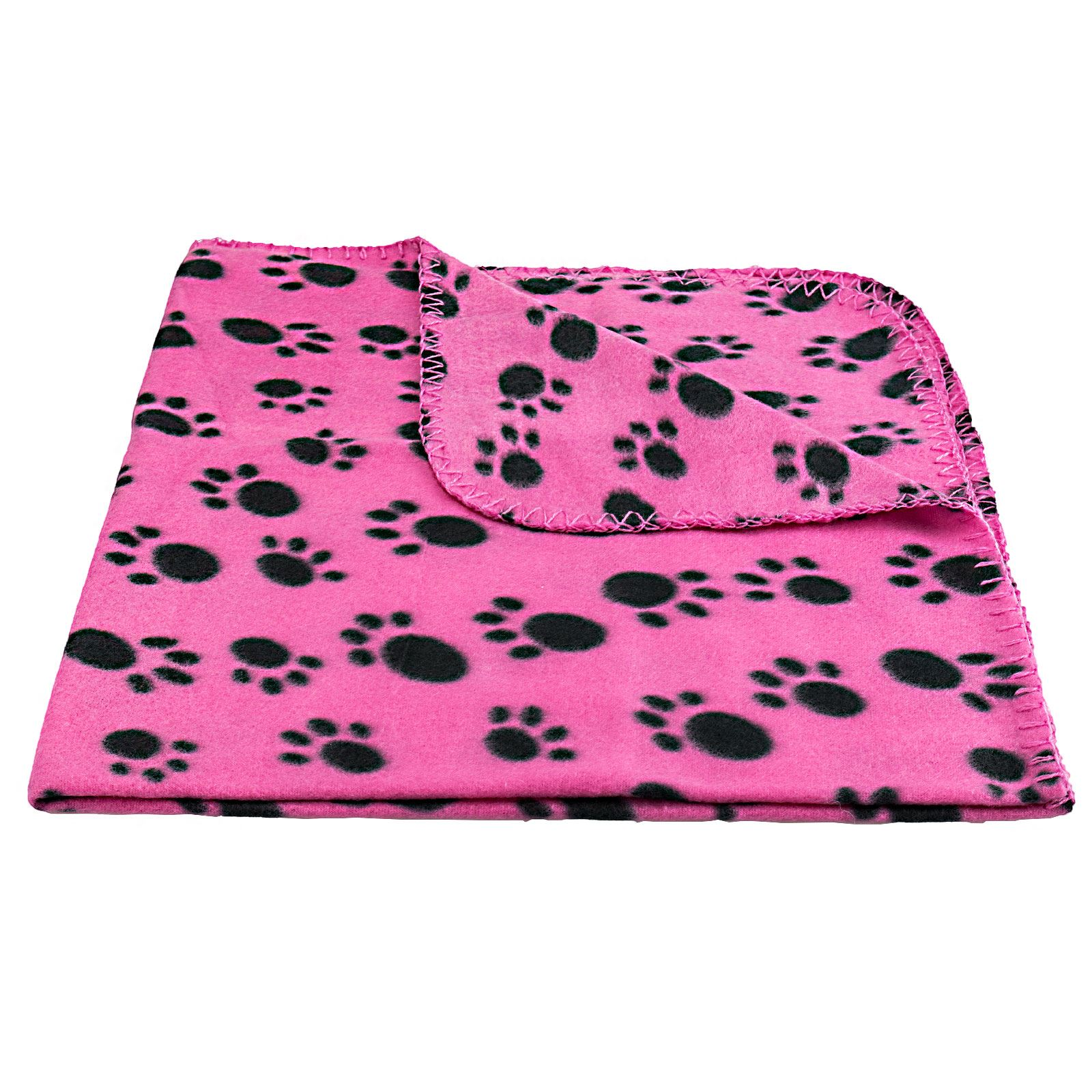 Pet-Blanket-Dogs-amp-Puppy-Cat-Paw-Print-Soft-Warm-Fleece-Bed-Travel-Basket-Car thumbnail 25