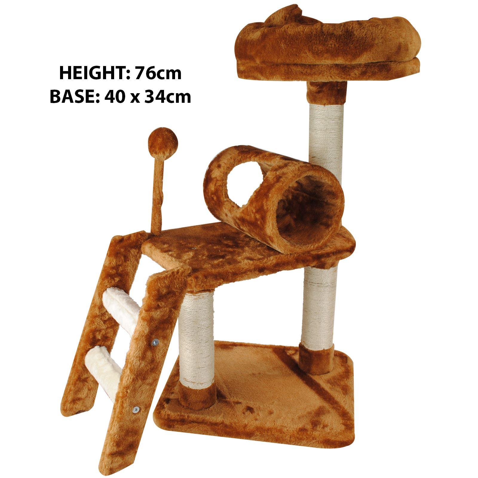 Pet-Cat-Kitten-Scratching-Post-Climbing-Tree-Bed-Rest-Platform-Play-Furniture thumbnail 8