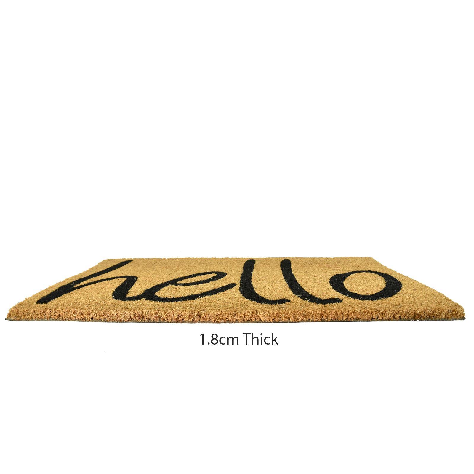 Plain-Non-Slip-Door-Mat-Tough-Natural-Coir-PVC-Back-Welcome-Doormat-40-x-60cm miniatura 62