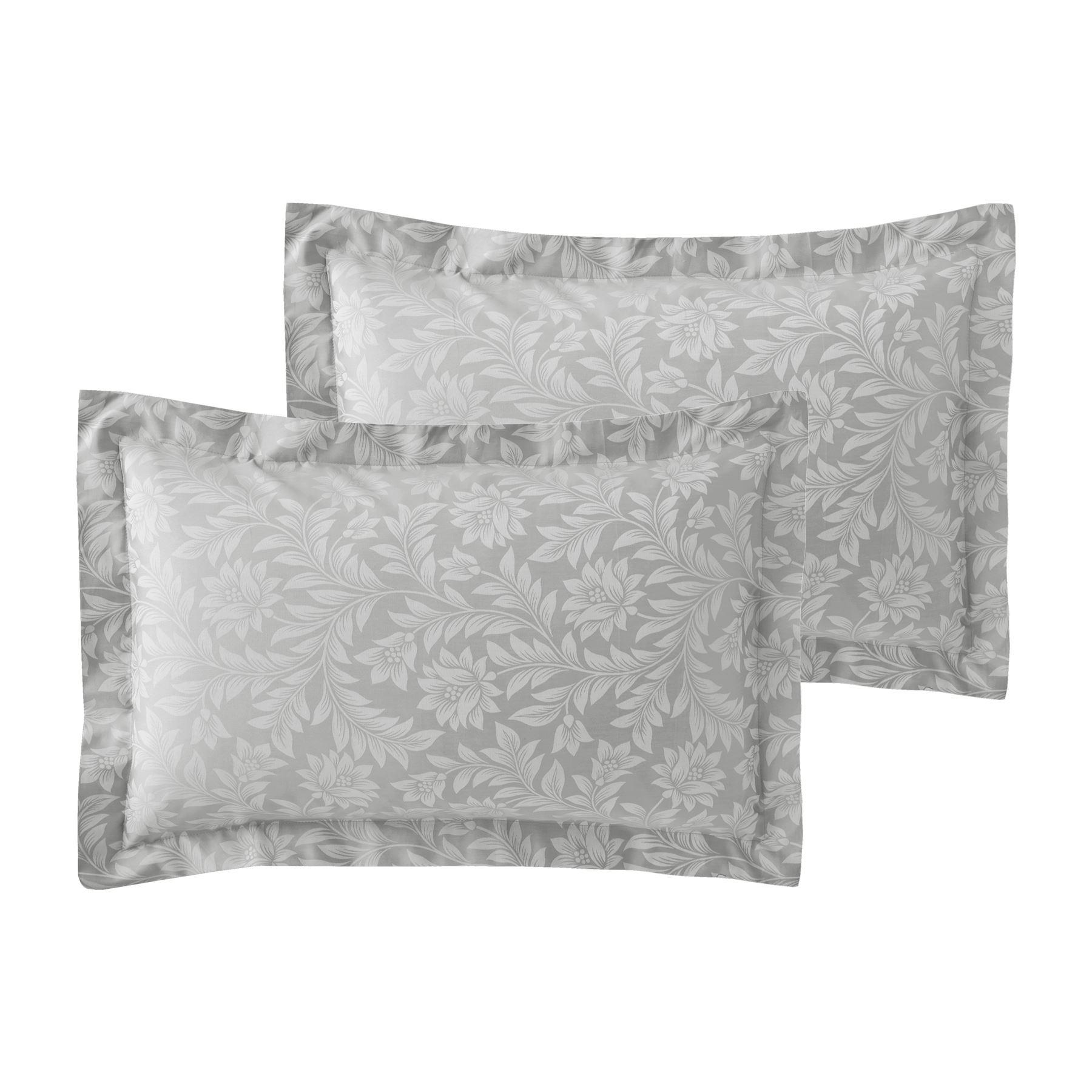 Jacquard-600-Hilos-De-Algodon-Rico-Floral-Duvet-Cover-Set-Fundas-de-almohada-Oxford miniatura 28
