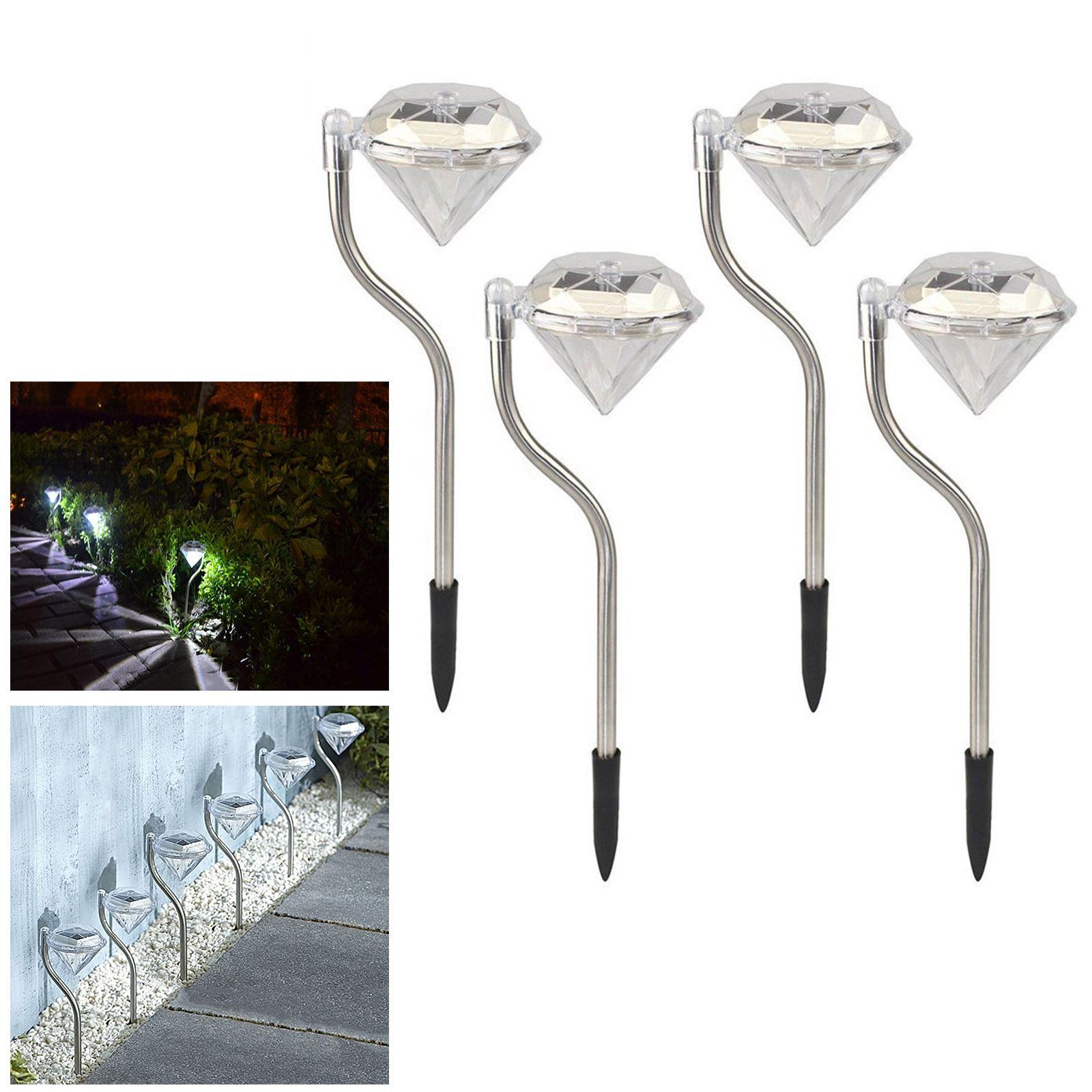 ASAB-10-x-a-energie-solaire-en-acier-inoxydable-jardin-poste-lumieres-DEL-eclairage-exterieur miniature 18