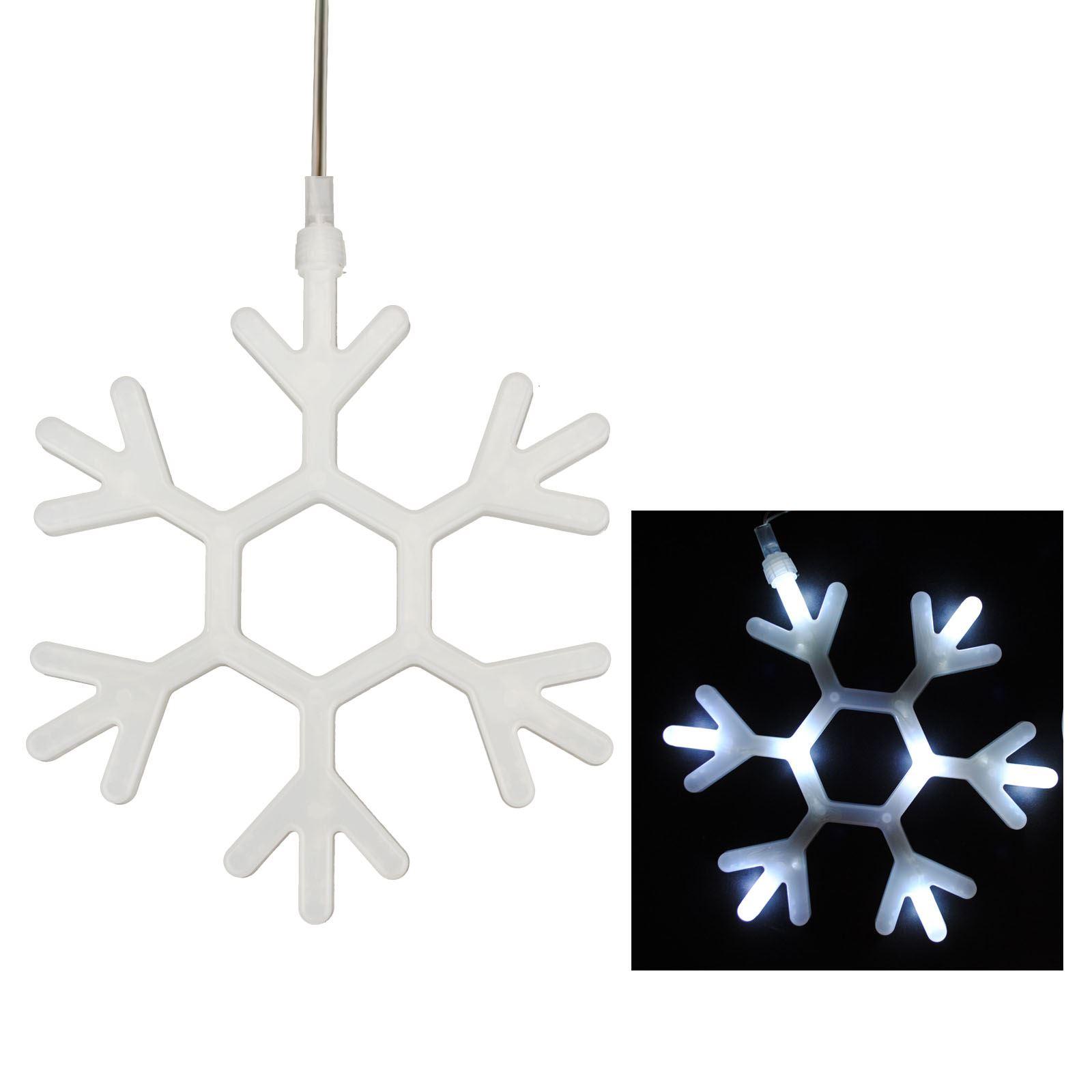 8-LED-Natale-vetrina-bianca-luminosa-luci-Natale-Festive-Decorazione-Appendere miniatura 9