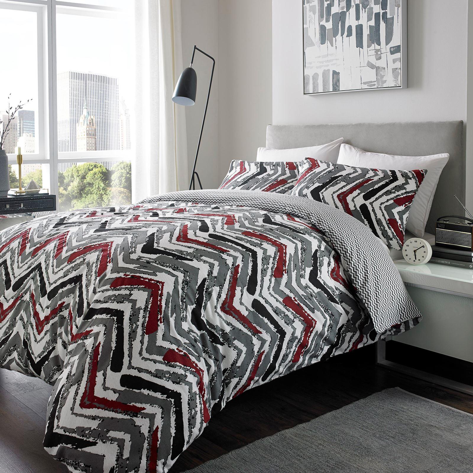Flannelette 100 Brushed Cotton Duvet Quilt Cover Bedding
