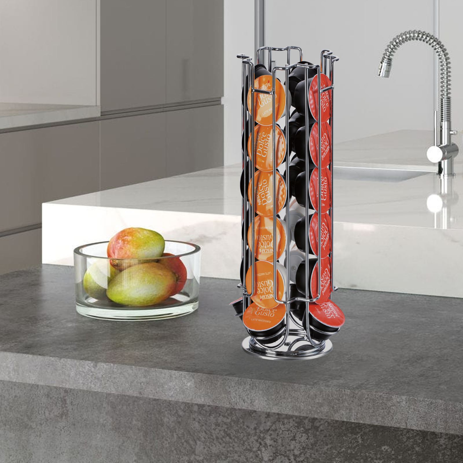 New-Coffee-Pod-Capsule-Stand-Tower-Rack-Dolce-Gusto-Dispenser-Rotating-Standing thumbnail 4