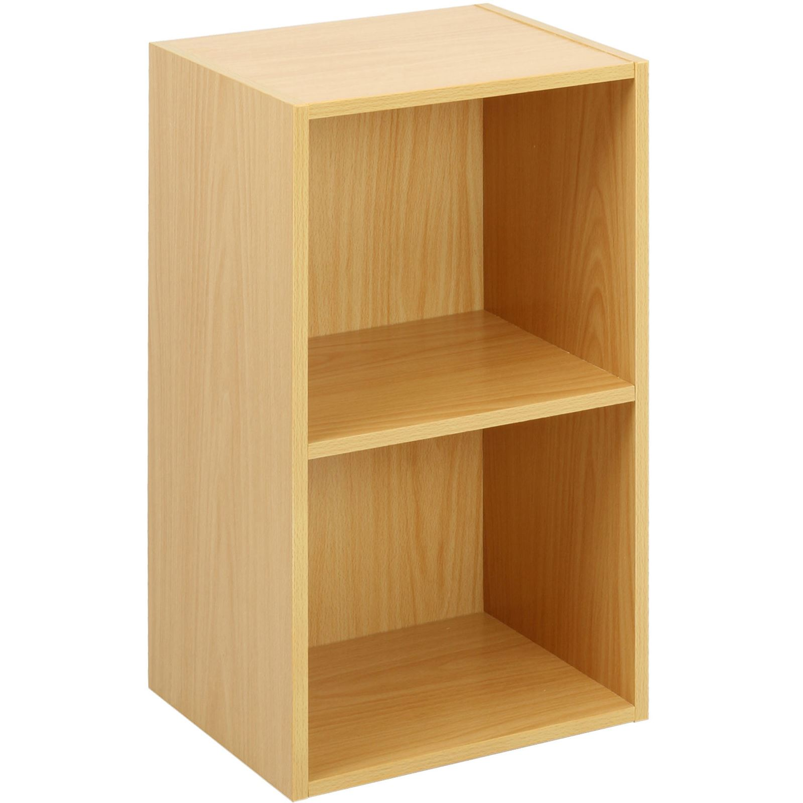 Wooden-Storage-Unit-Cube-2-3-4-Tier-Strong-Bookcase-Shelving-Home-Office-Display thumbnail 7