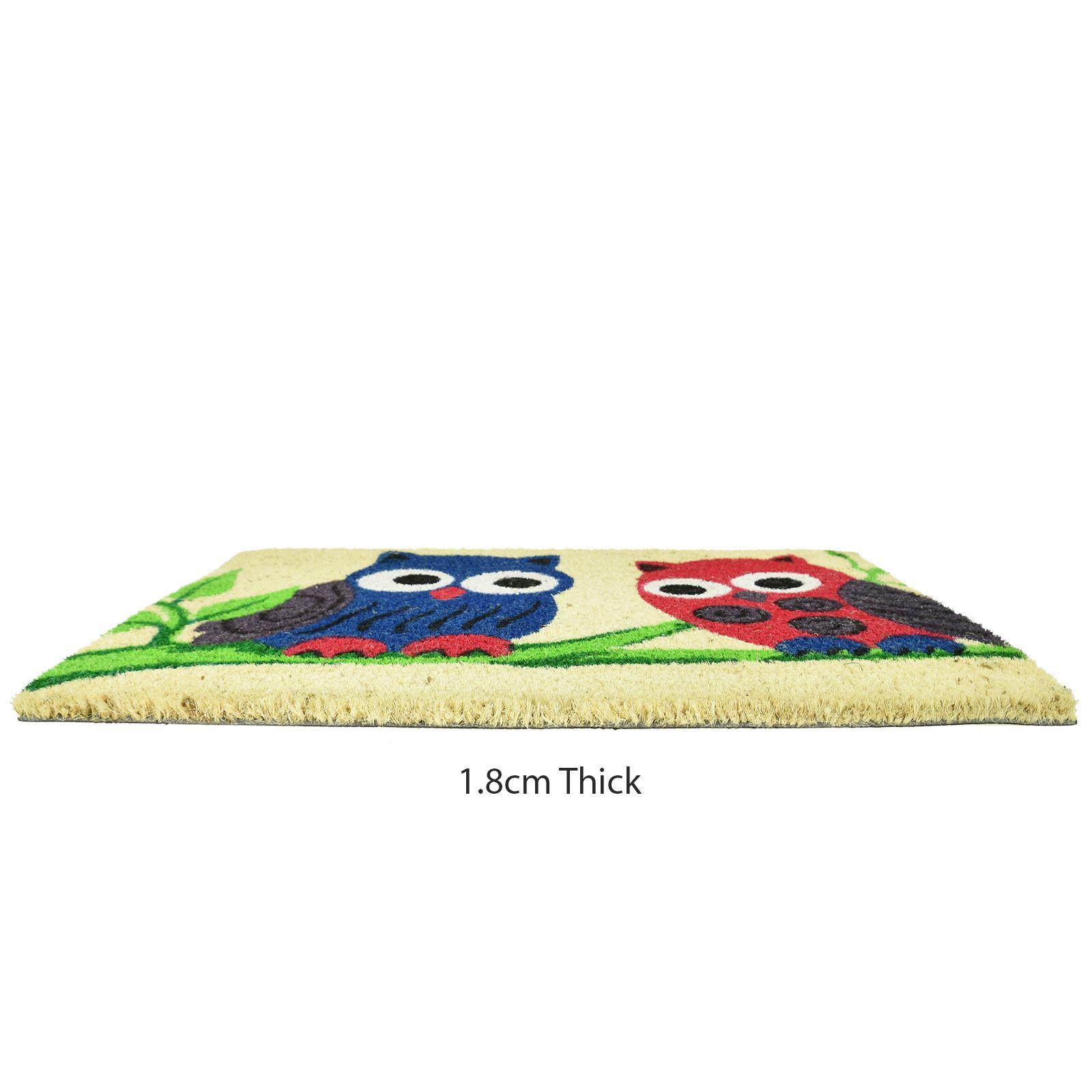 Plain-Non-Slip-Door-Mat-Tough-Natural-Coir-PVC-Back-Welcome-Doormat-40-x-60cm miniatura 28