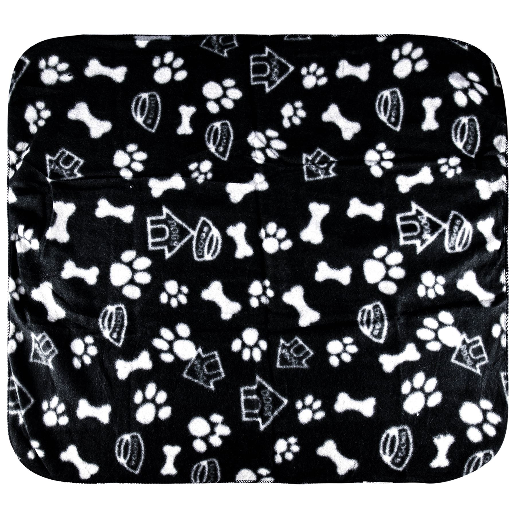 Pet-Blanket-Dogs-amp-Puppy-Cat-Paw-Print-Soft-Warm-Fleece-Bed-Travel-Basket-Car thumbnail 14