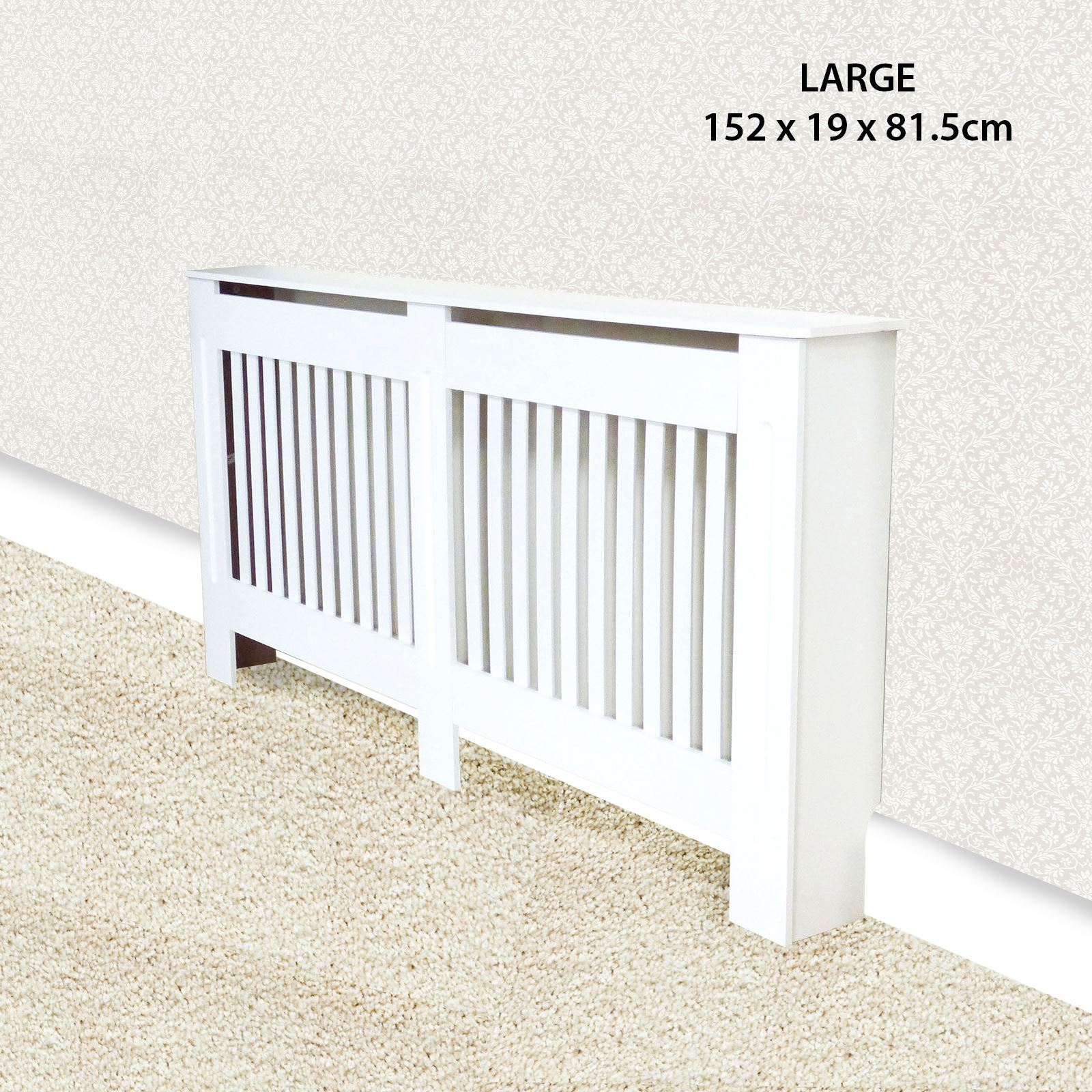 Traditional-Radiator-Cover-Cabinet-Vertical-Slatted-MDF-Wood-Small-Large-Unit thumbnail 4