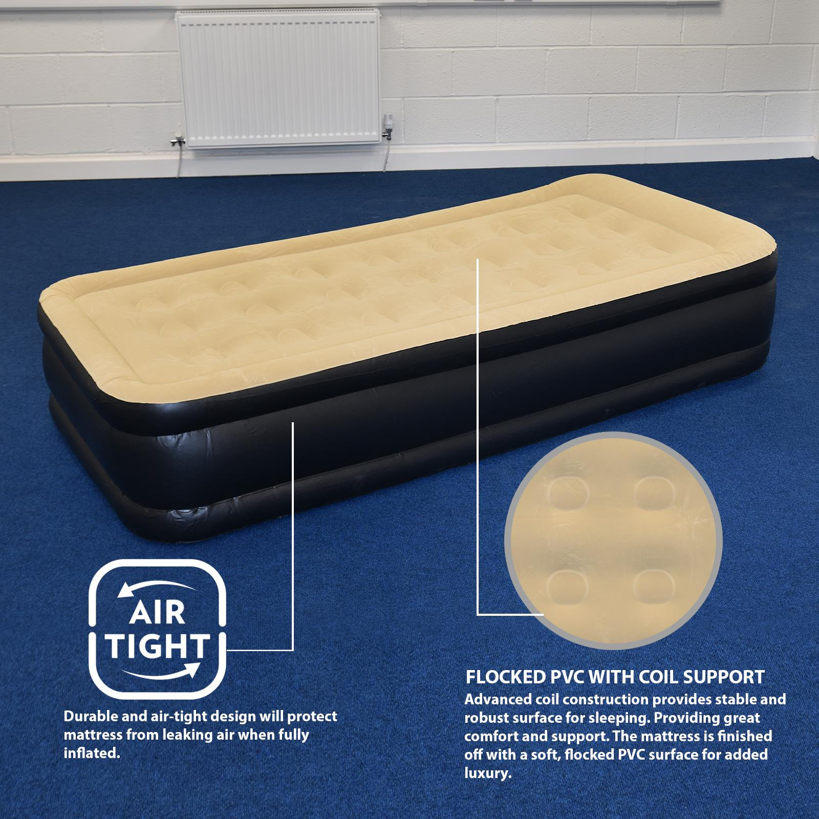 Jilong-Luxury-Air-Bed-Mattress-Soft-Flocked-Inflatable-Relaxing-Airbed-Camping thumbnail 8