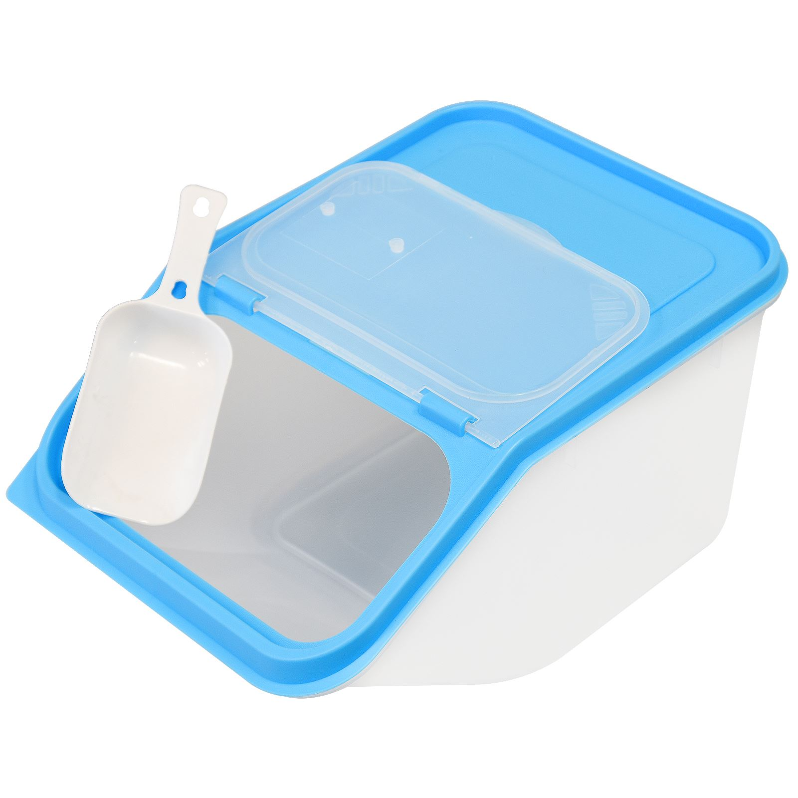 ... Picture 2 of 3 ...  sc 1 st  eBay & 3.5l Large Dry Food Storage Container Plastic Scoop Cereal Dispenser ...
