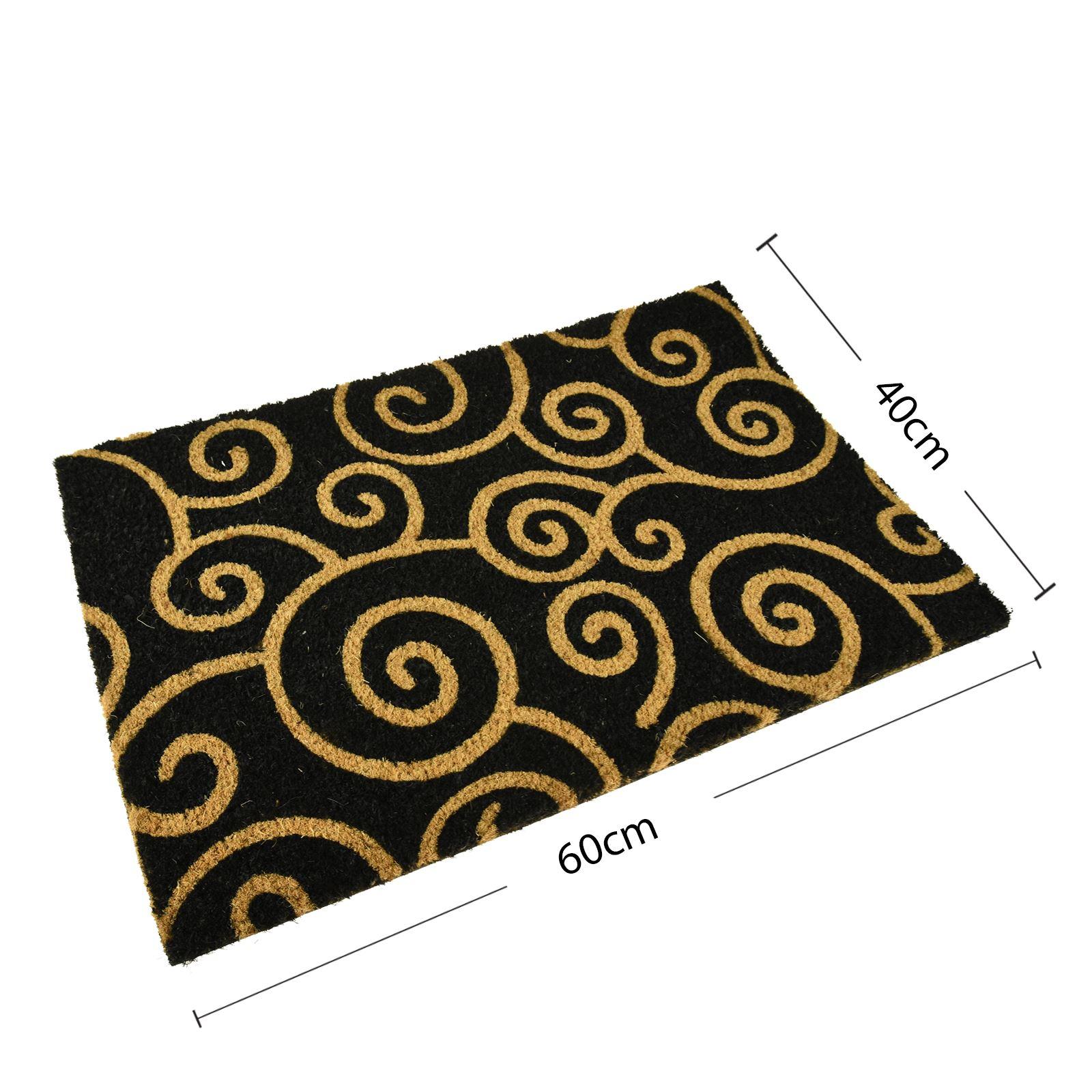 Plain-Non-Slip-Door-Mat-Tough-Natural-Coir-PVC-Back-Welcome-Doormat-40-x-60cm miniatura 107