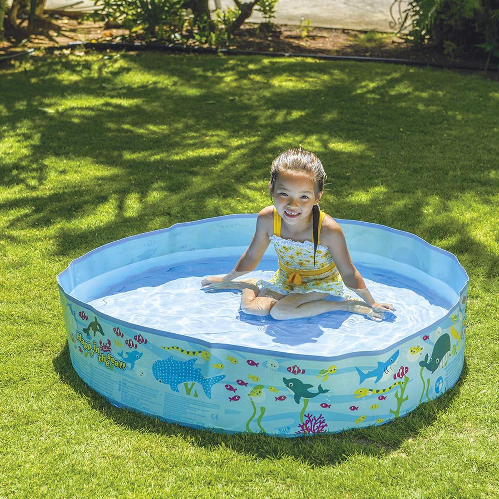 Centro-De-Juegos-De-Natacion-Ninos-Ridgid-Pared-piscina-infantil-Mar-Vida-al-Aire-Libre-diversion miniatura 4