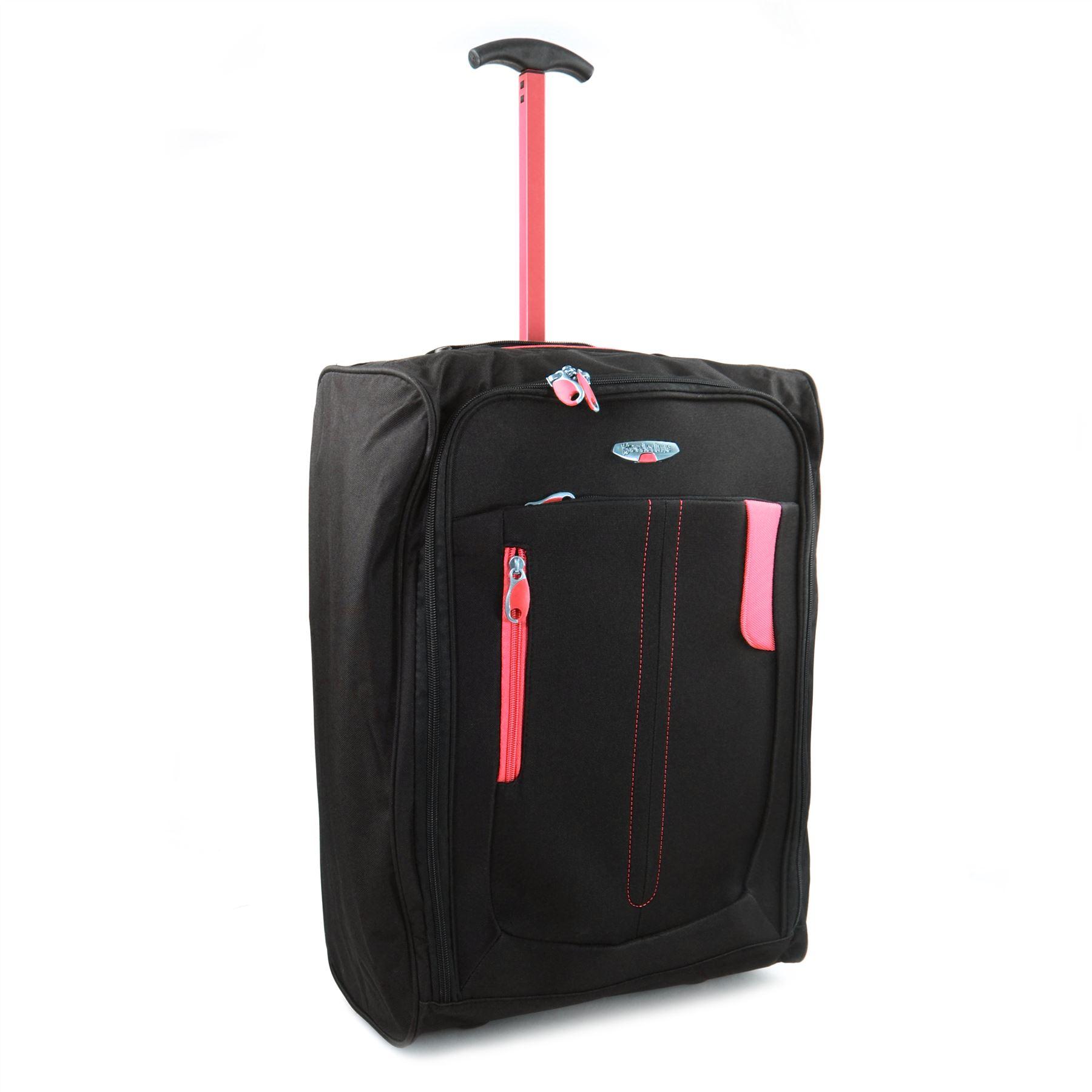 lightweight wheeled cabin hand luggage bag case trolly. Black Bedroom Furniture Sets. Home Design Ideas