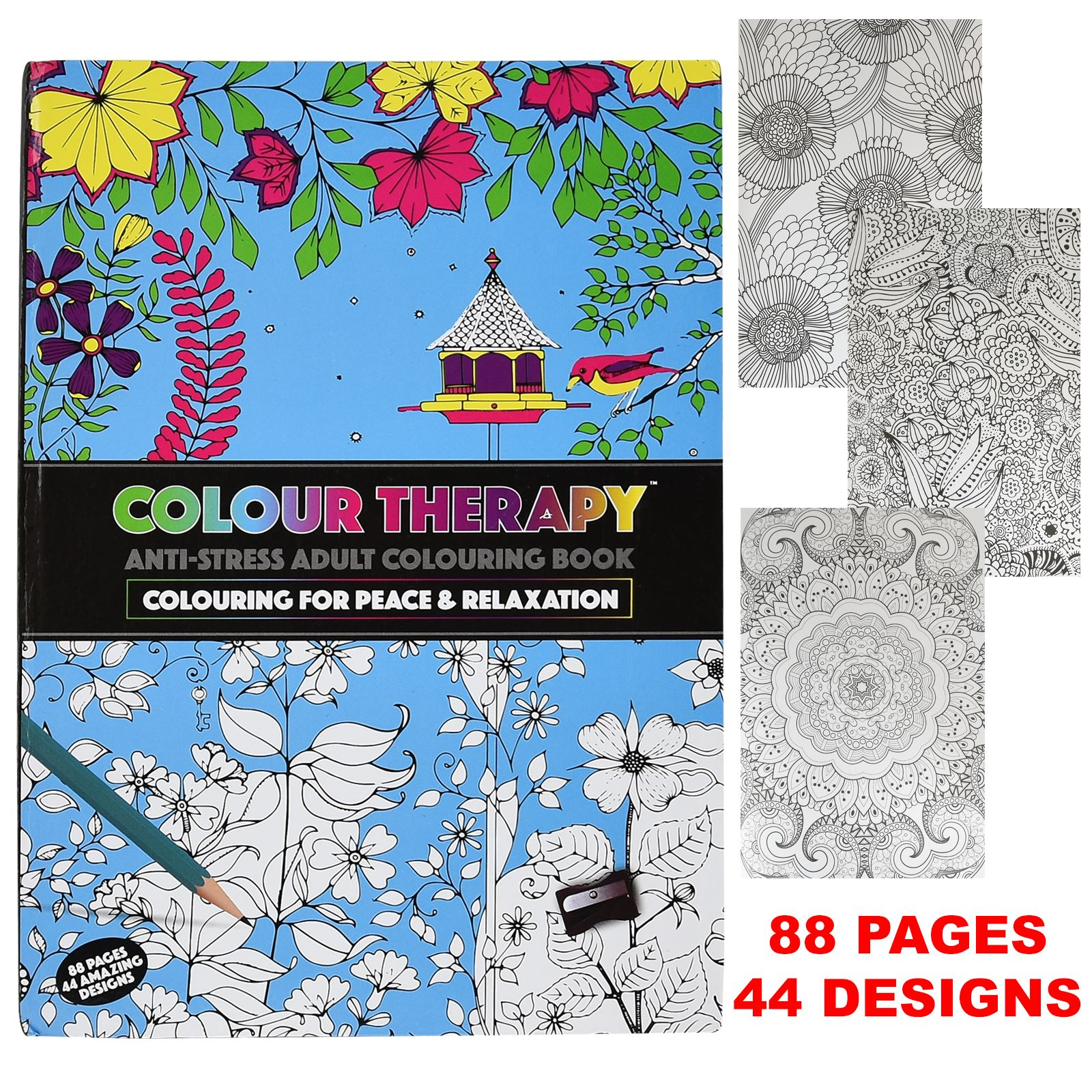 Adult coloring books ebay - Anti Stress Coloring Book Ebay New Colour Therapy Adult Colouring Books Anti Stress