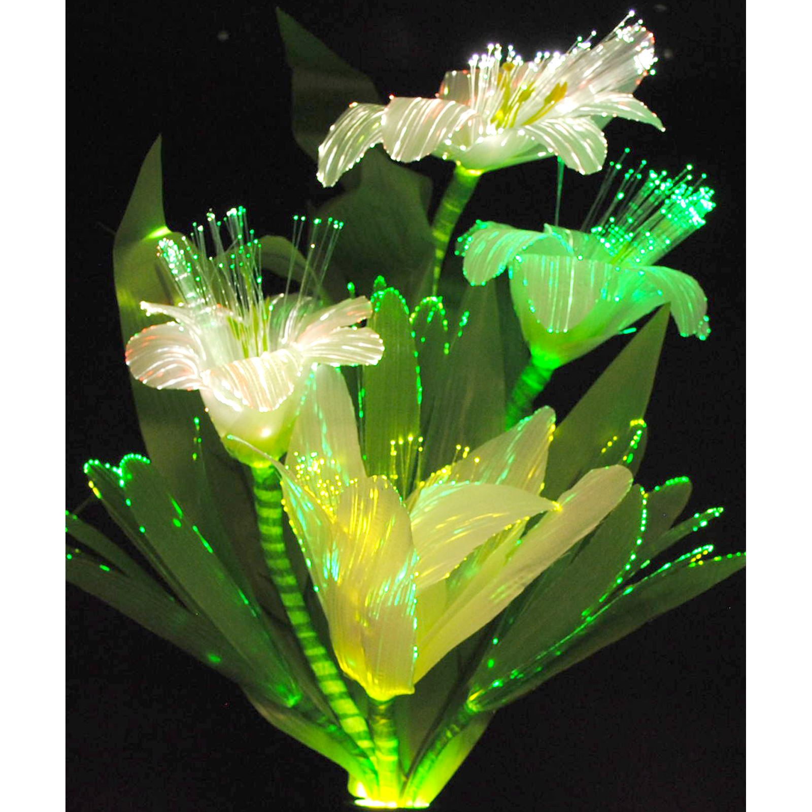 Rgb colour changing led fibre optic flower vase display table lamp rgb colour changing led fibre optic flower vase mozeypictures Images