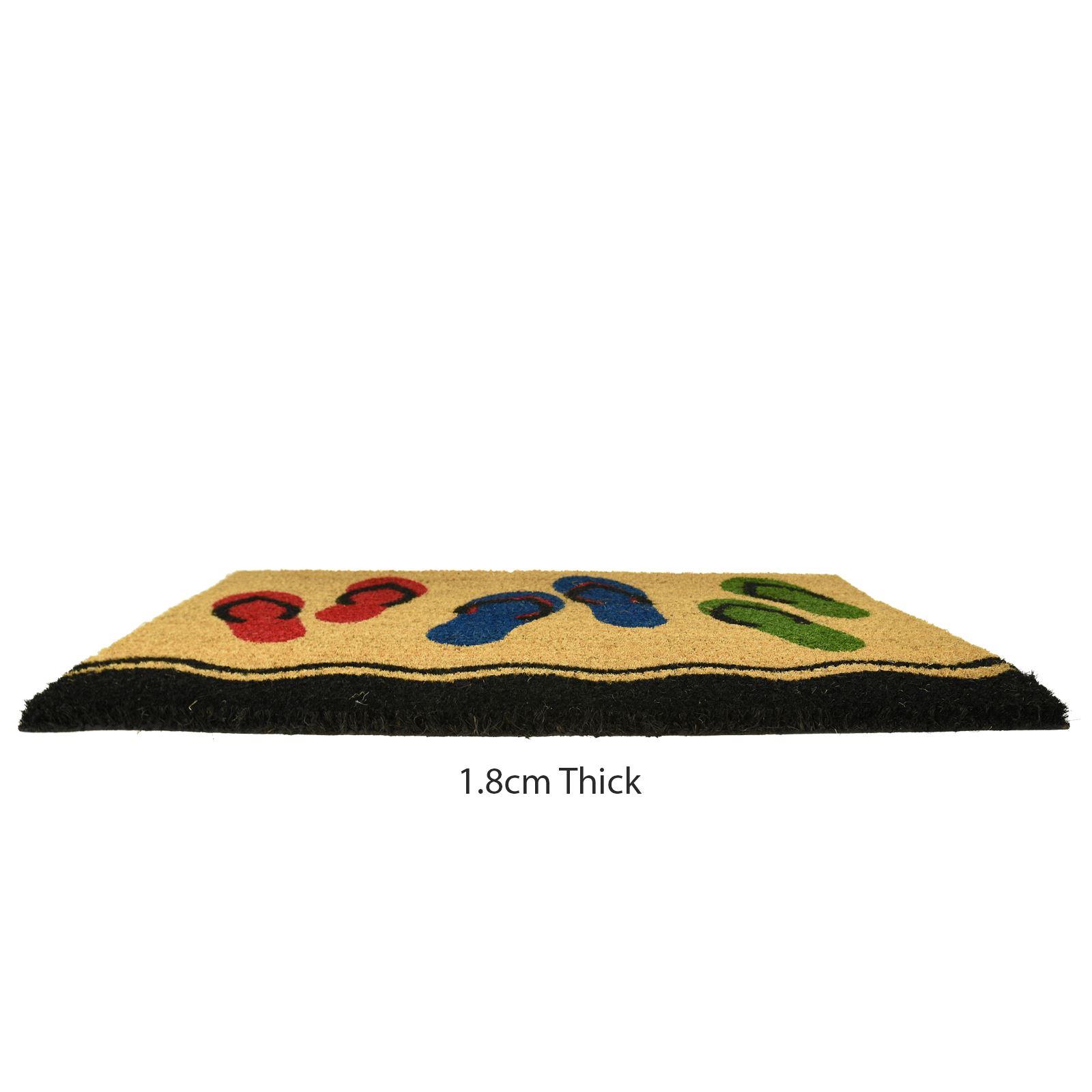 Plain-Non-Slip-Door-Mat-Tough-Natural-Coir-PVC-Back-Welcome-Doormat-40-x-60cm miniatura 47