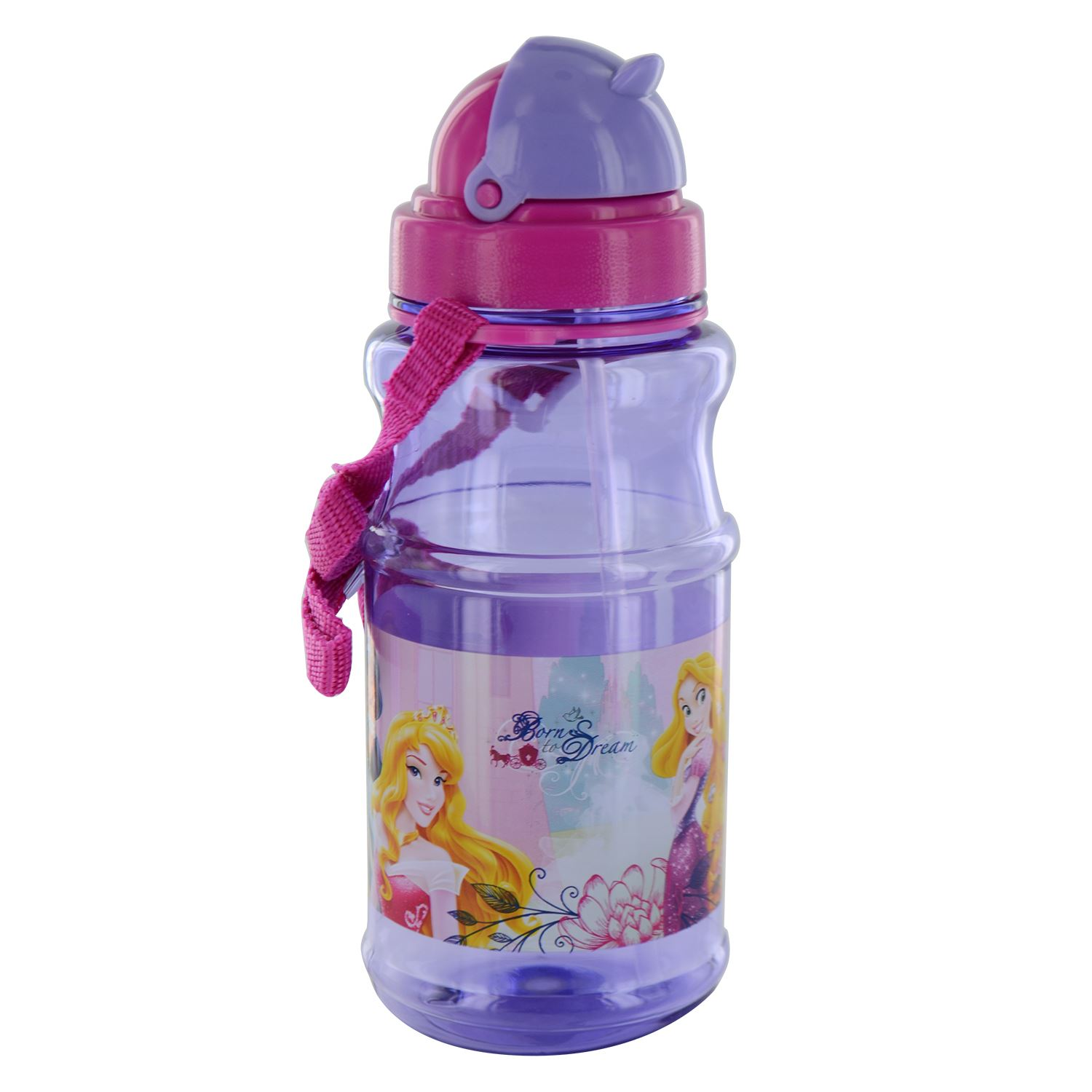 Kids Childs Drinking Bottle Folding Straw School Childrens Cup Sippy Drink