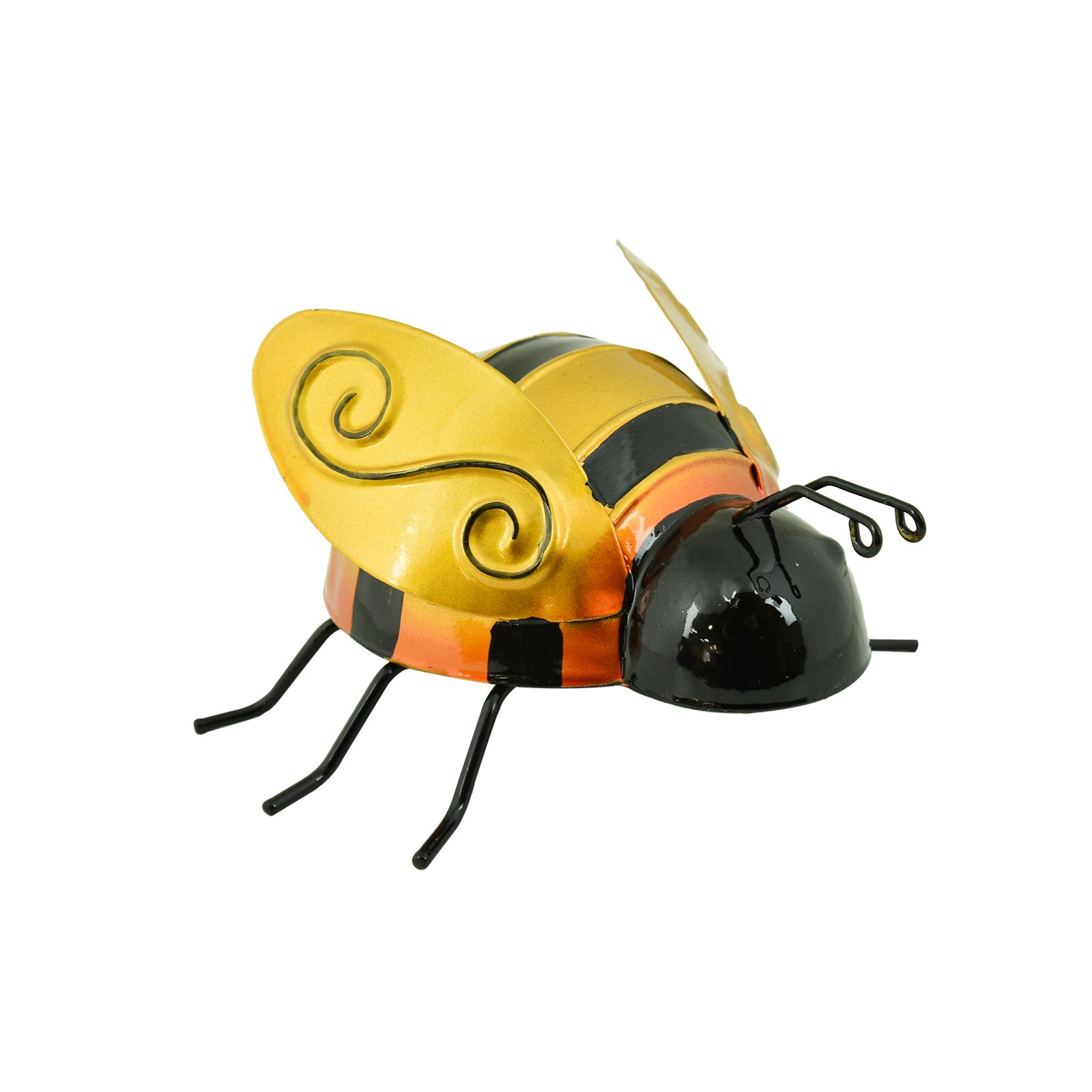 Metal Insect Garden Ornament Statues Outdoor Wall Hanging Art - Bee ...