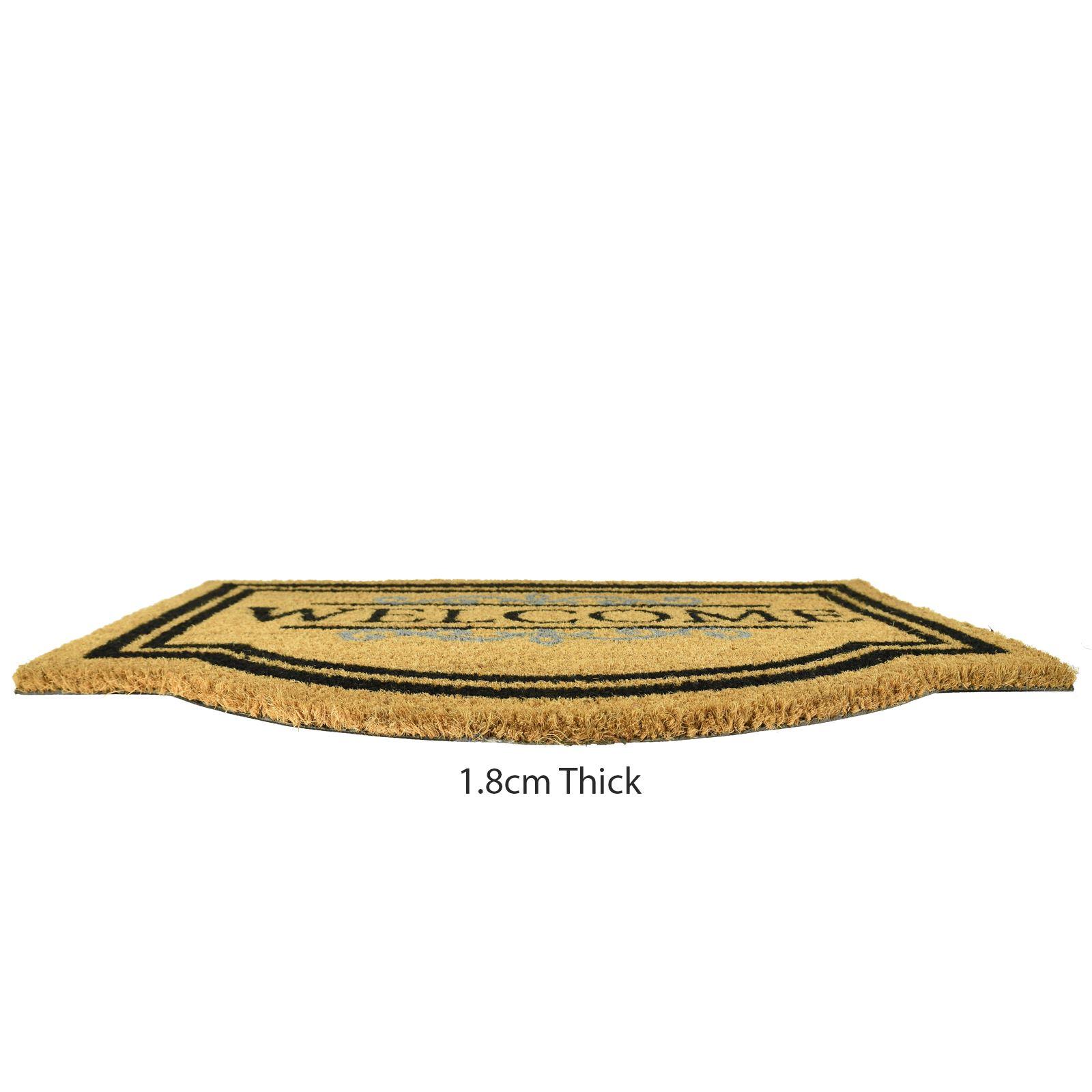 Plain-Non-Slip-Door-Mat-Tough-Natural-Coir-PVC-Back-Welcome-Doormat-40-x-60cm miniatura 119
