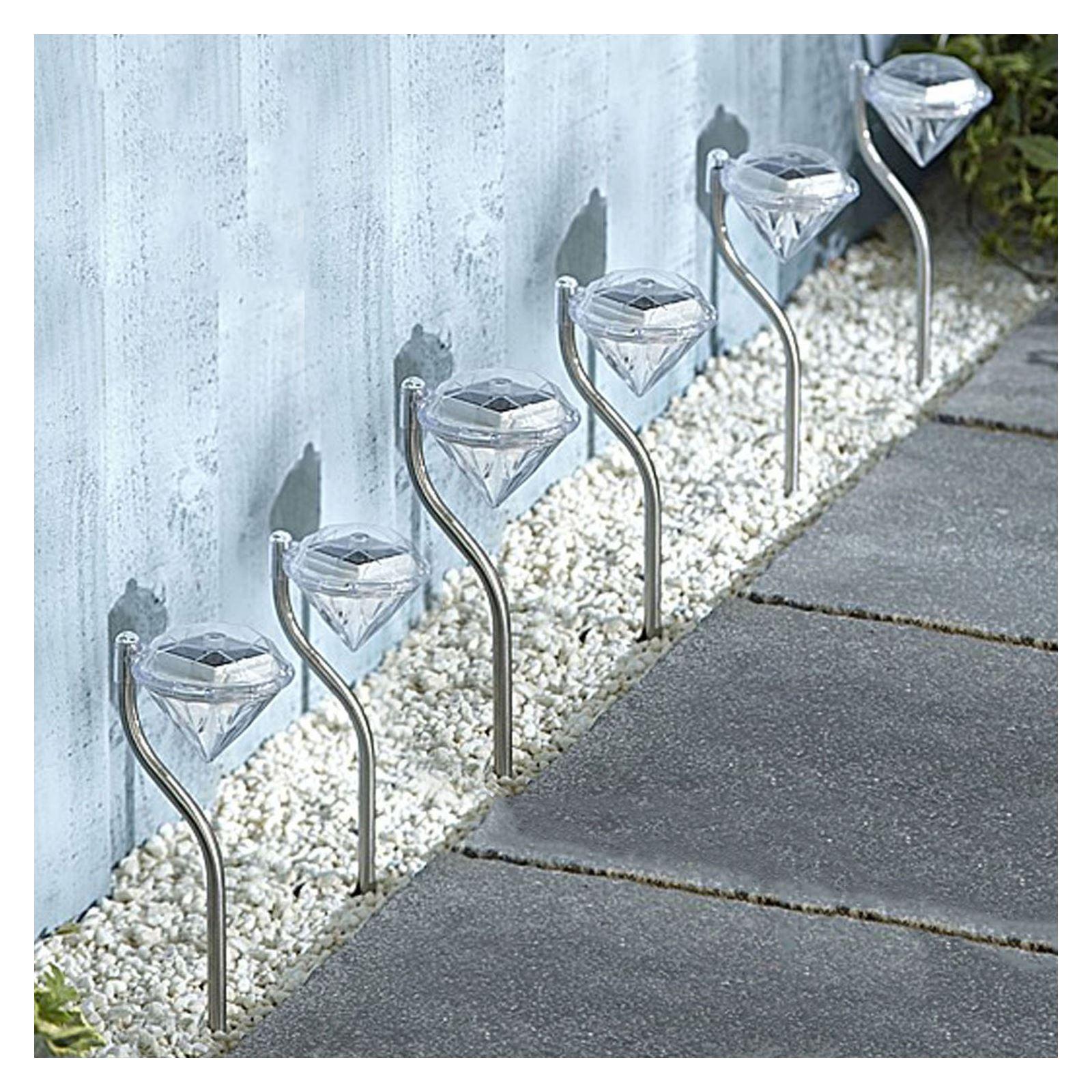 ASAB-10-x-a-energie-solaire-en-acier-inoxydable-jardin-poste-lumieres-DEL-eclairage-exterieur miniature 15