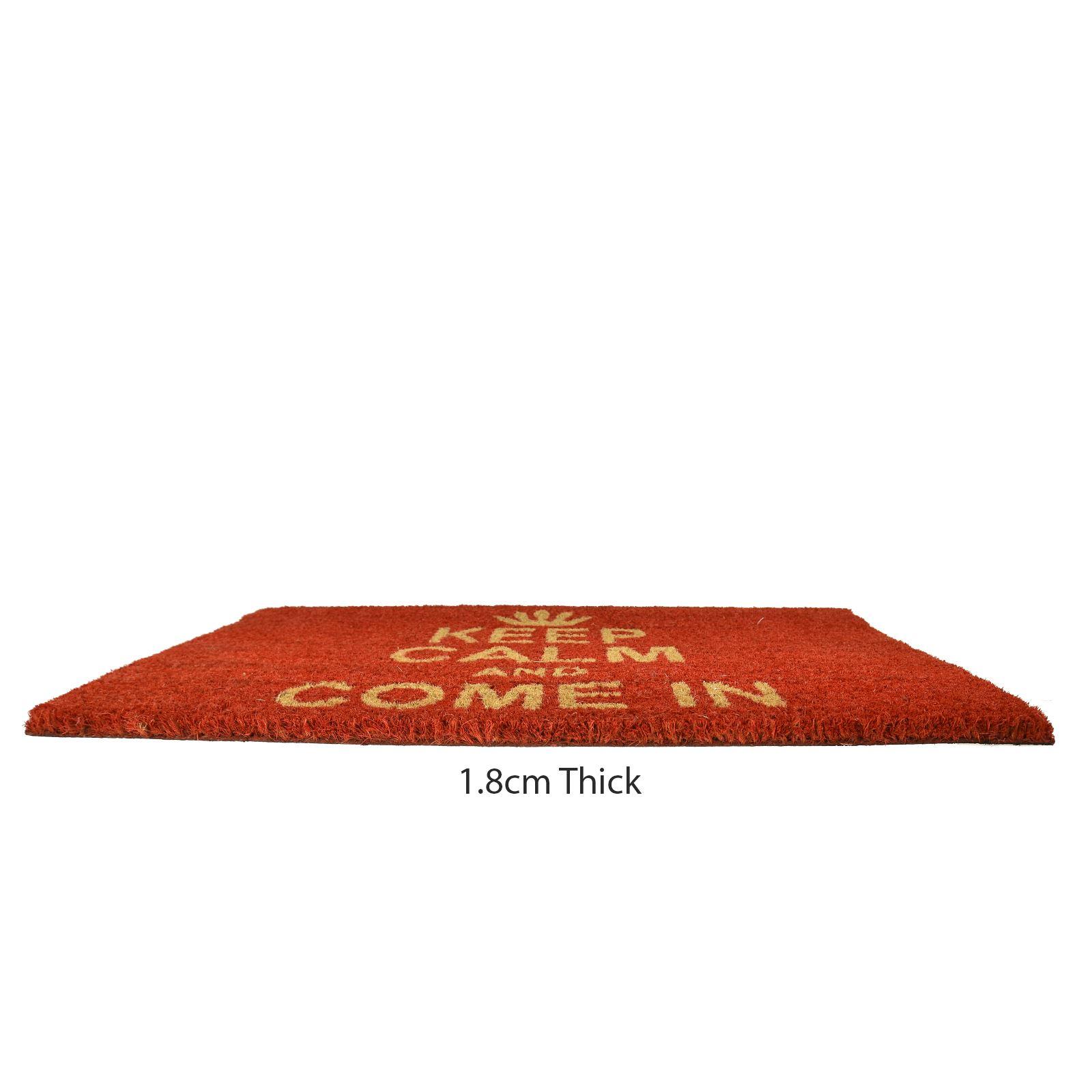 Plain-Non-Slip-Door-Mat-Tough-Natural-Coir-PVC-Back-Welcome-Doormat-40-x-60cm miniatura 82