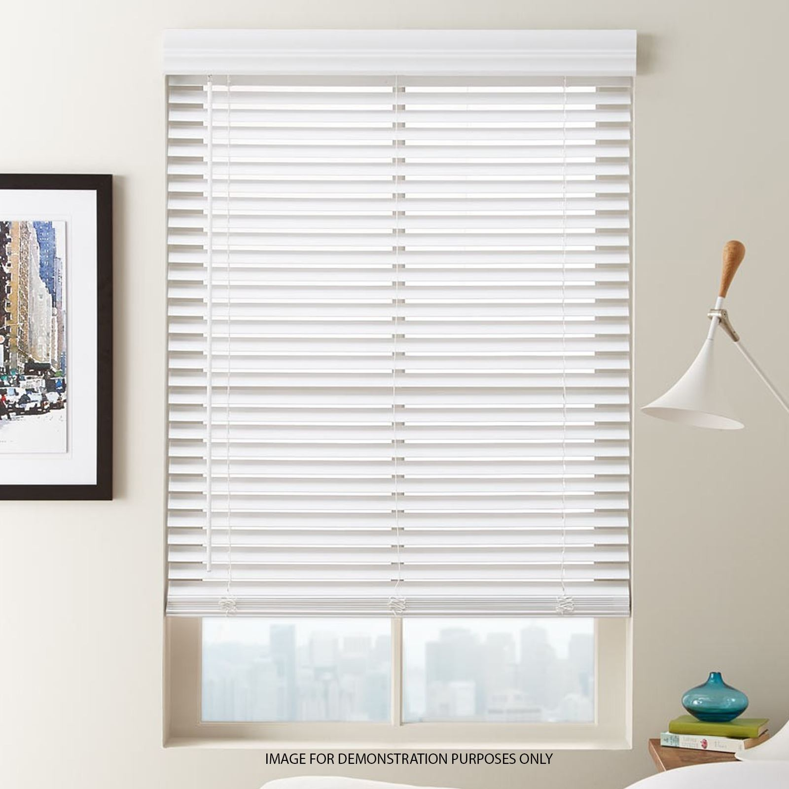 Venetian Blind Office Home Window Blinds Trim-able Easy Fit Drop 210cm Cream PVC
