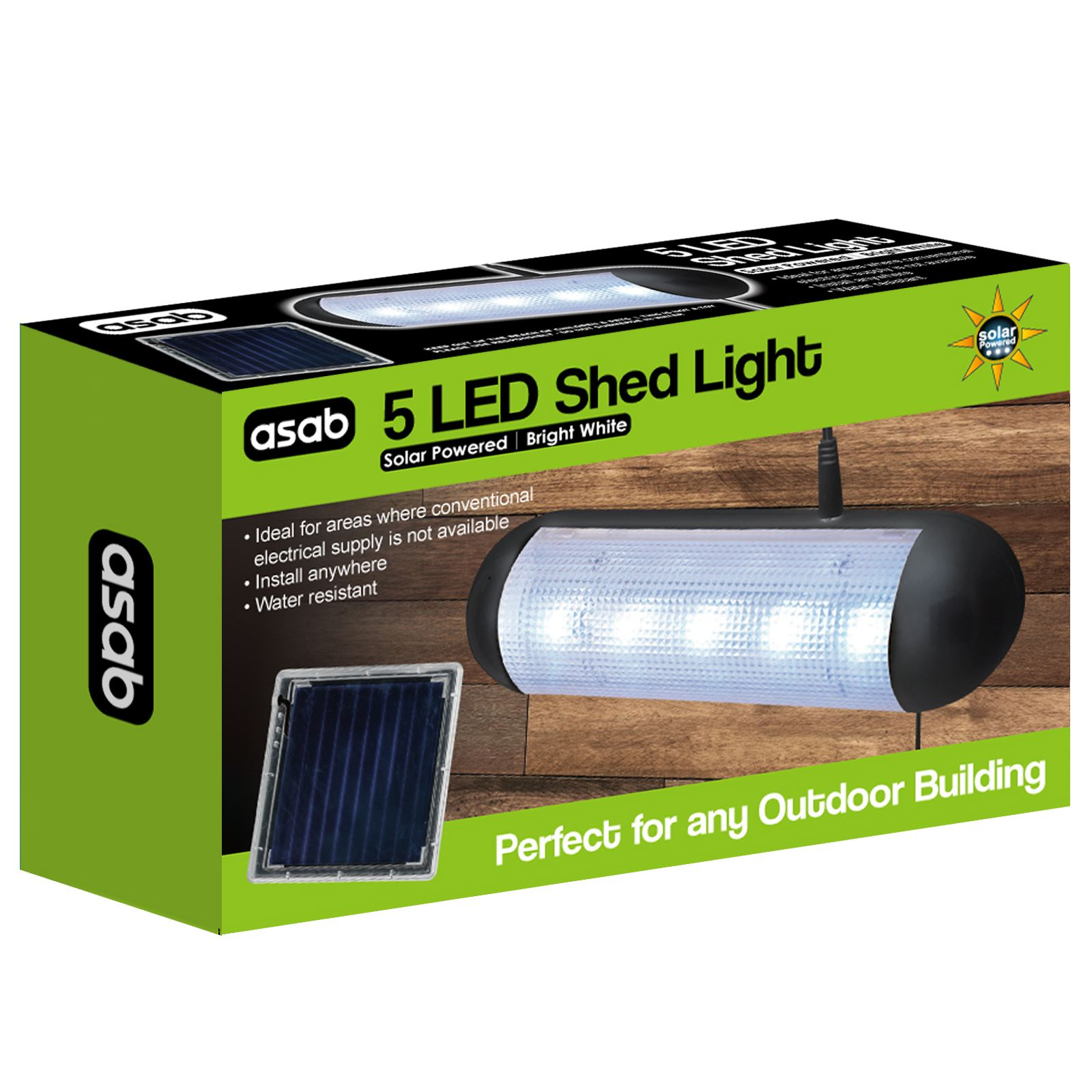 Solar-Powered-5-Bright-White-LED-Shed-Light-Rechargeable-Outdoor-Security-Lamp