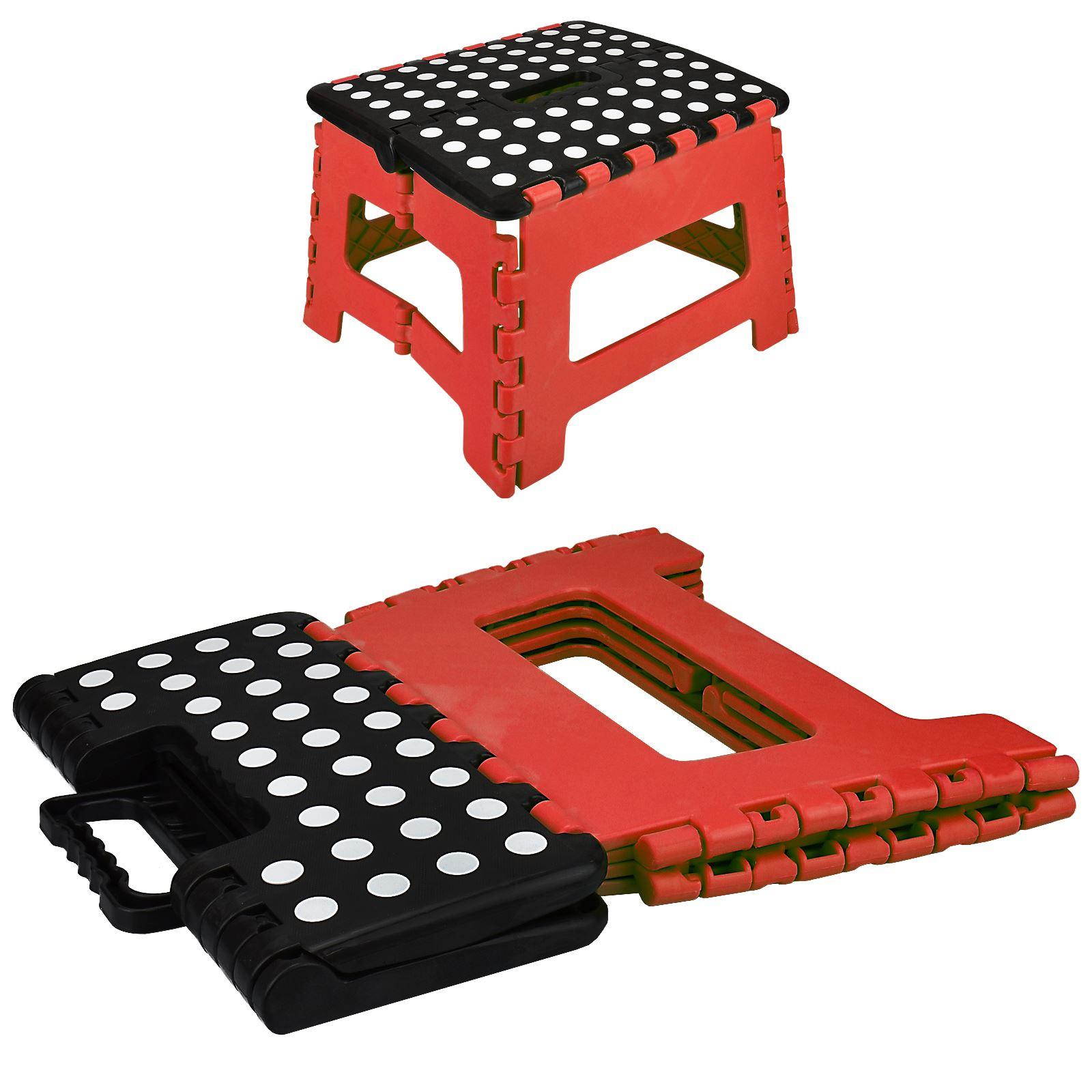 Large multi purpose fold step stool plastic home kitchen foldable easy storage ebay - Escabeau de cuisine pliable ...