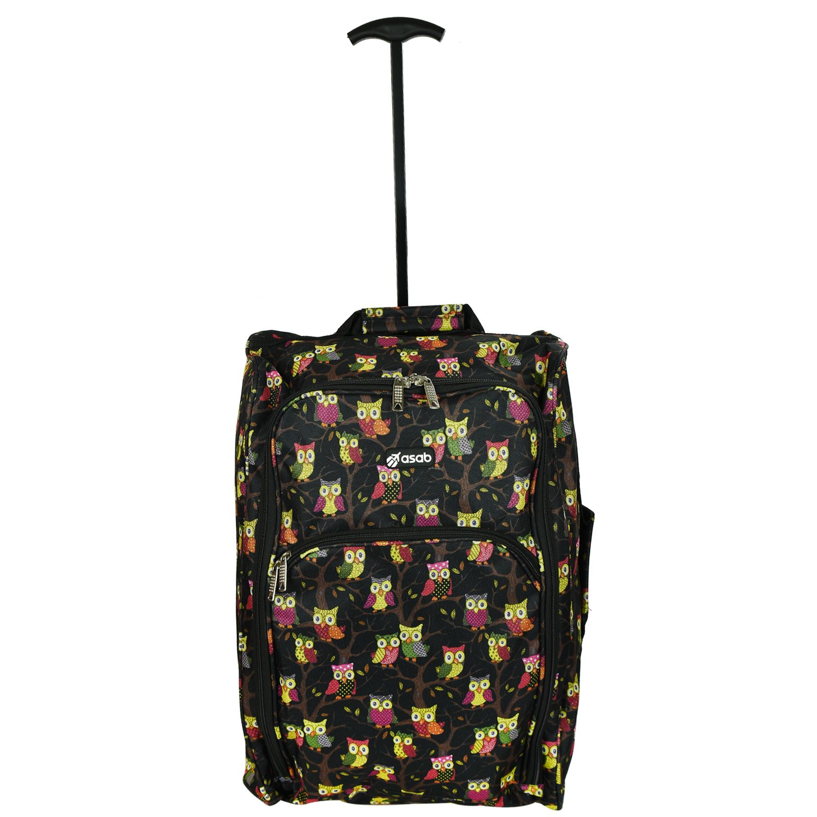Cabin-Hand-Luggage-Trolley-Bag-Small-Travel-Flight-Suitcase-Holdall-Wheeled thumbnail 13