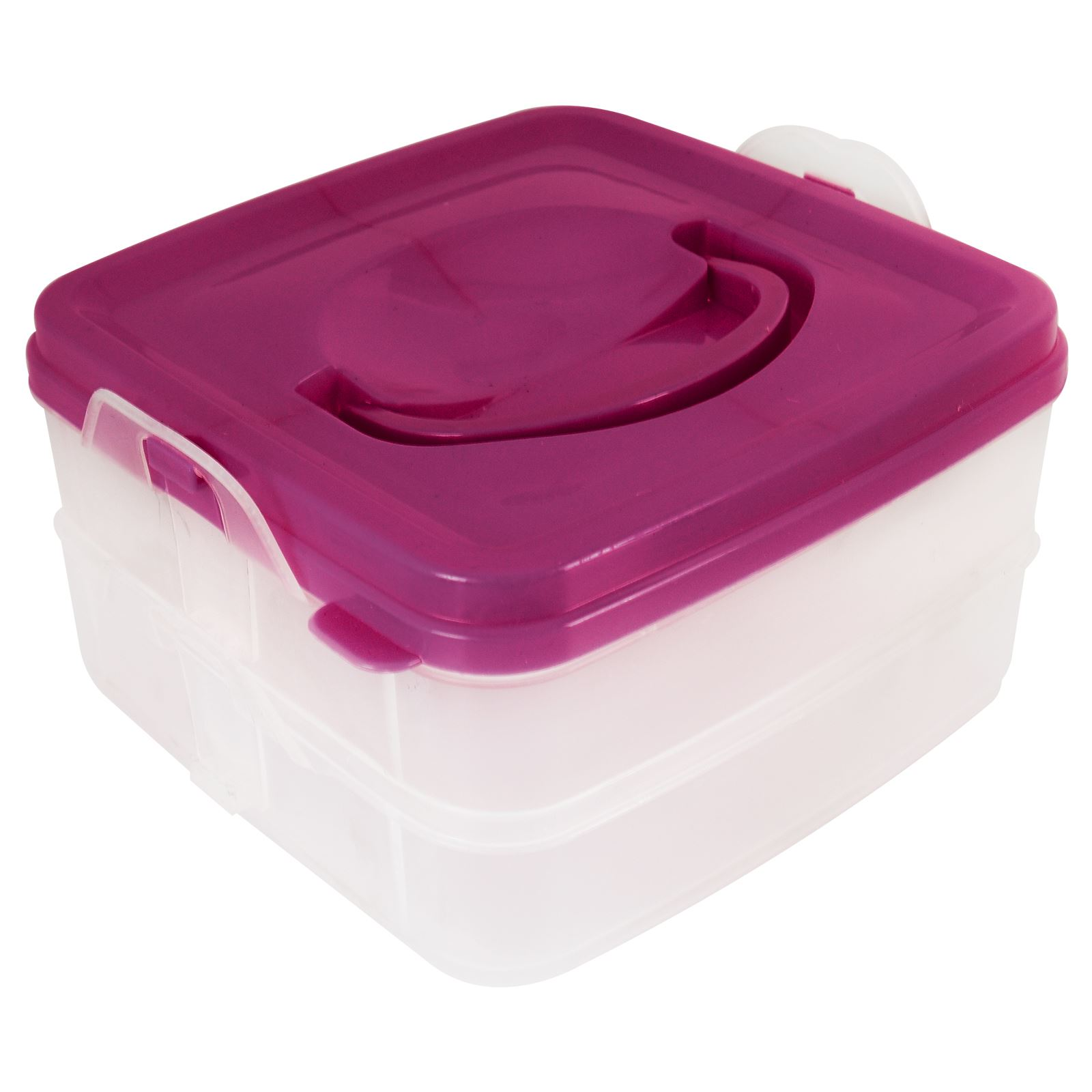 2 Tier Clip Lock Lunch Box Dinner Set Stack able Fresh Food Storage