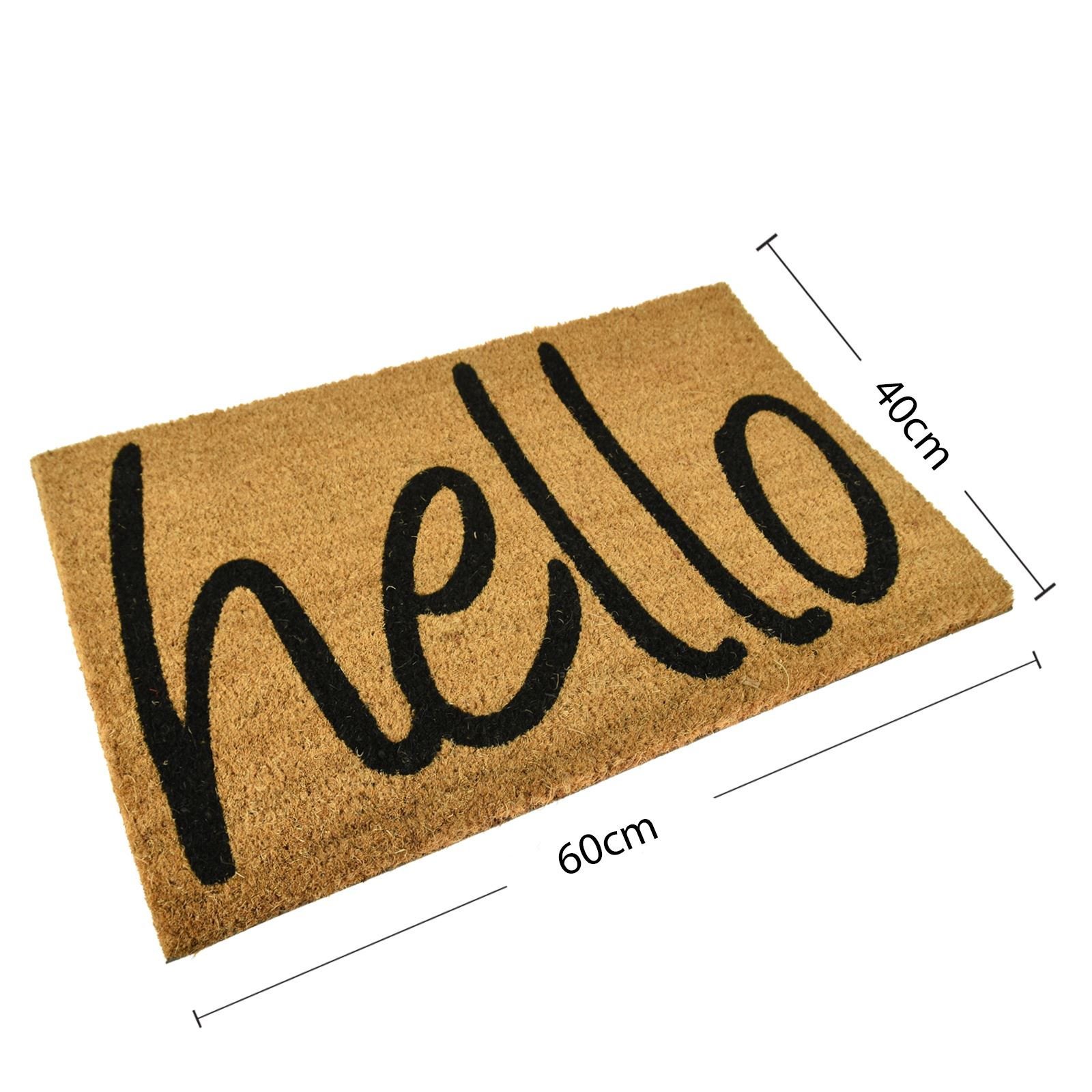 Plain Non Slip Door Mat Tough Natural Coir Pvc Back
