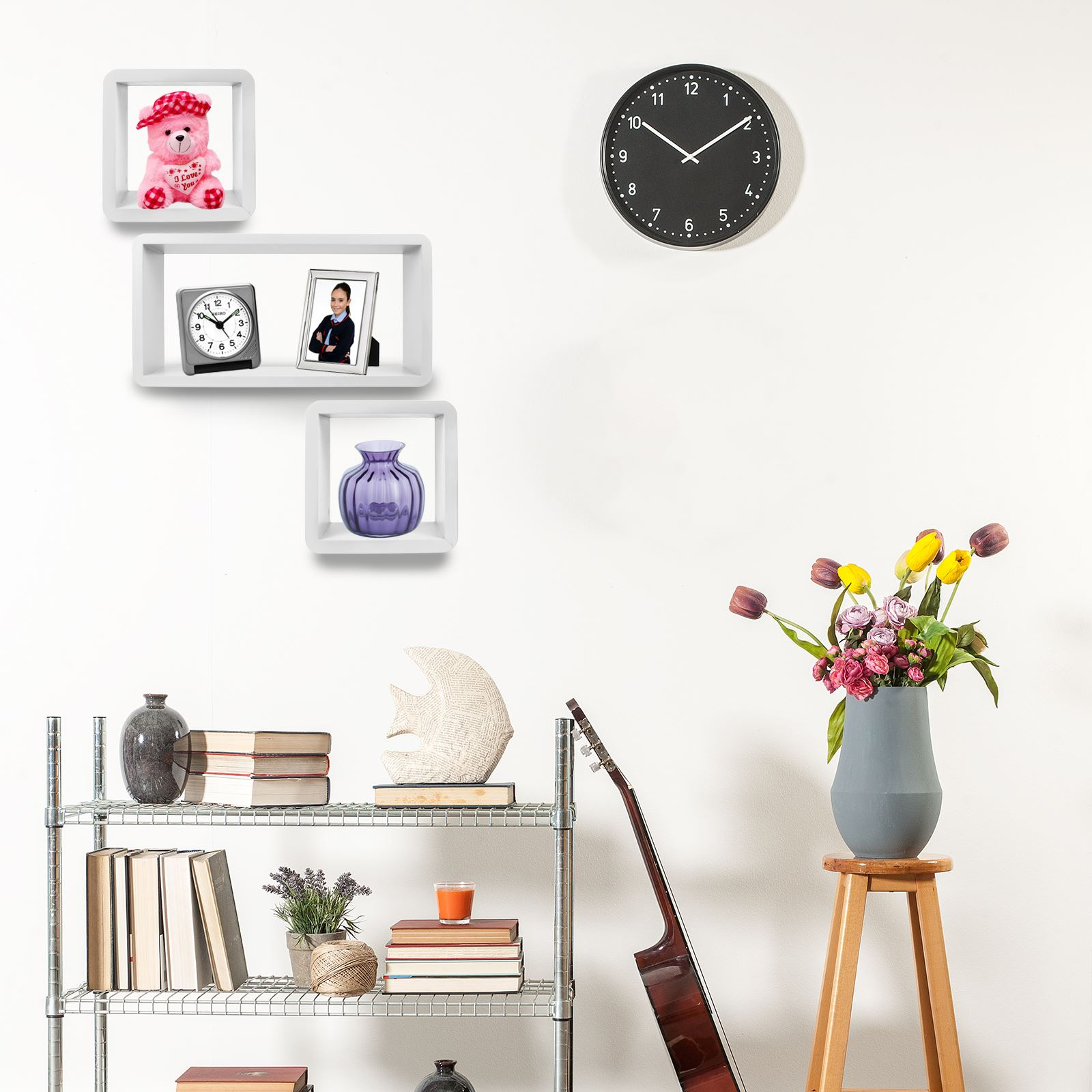3pc-Set-Rectangle-Floating-Shelves-Wall-Mount-Storage-Book-Shelf-DVD-CD-Stand thumbnail 22