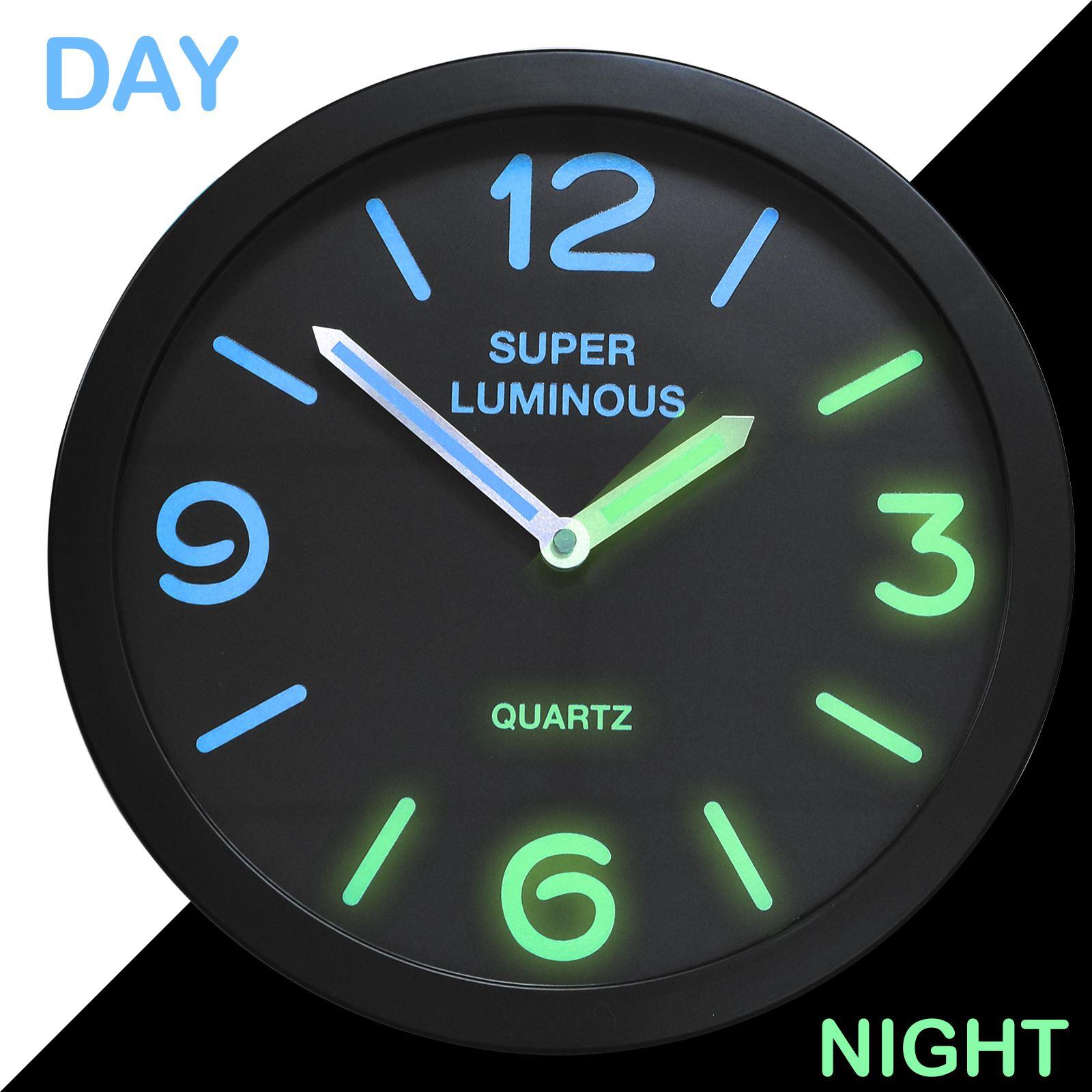 12 glow in the dark wall clock hanging bedroom home