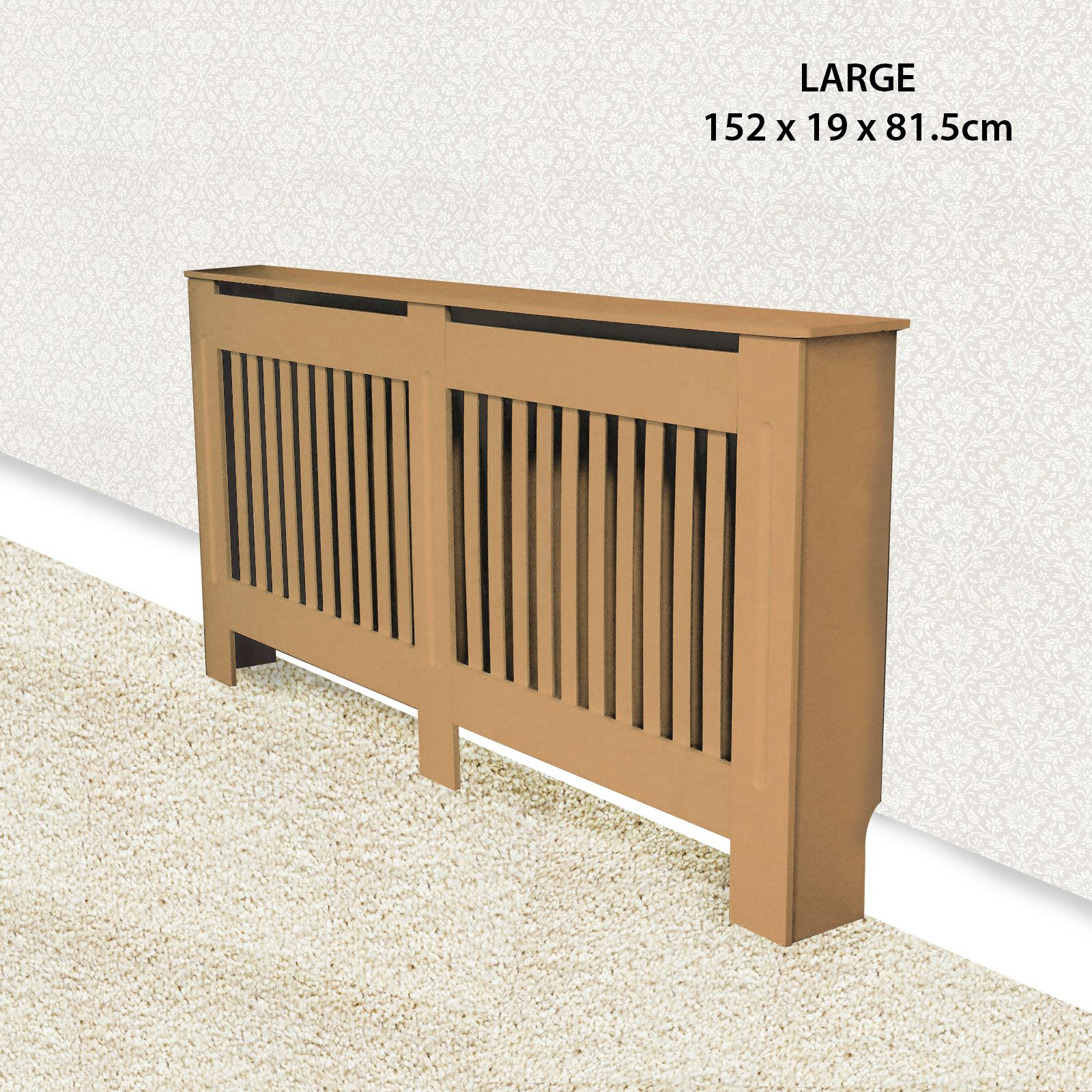 Traditional-Radiator-Cover-Cabinet-Vertical-Slatted-MDF-Wood-Small-Large-Unit thumbnail 10