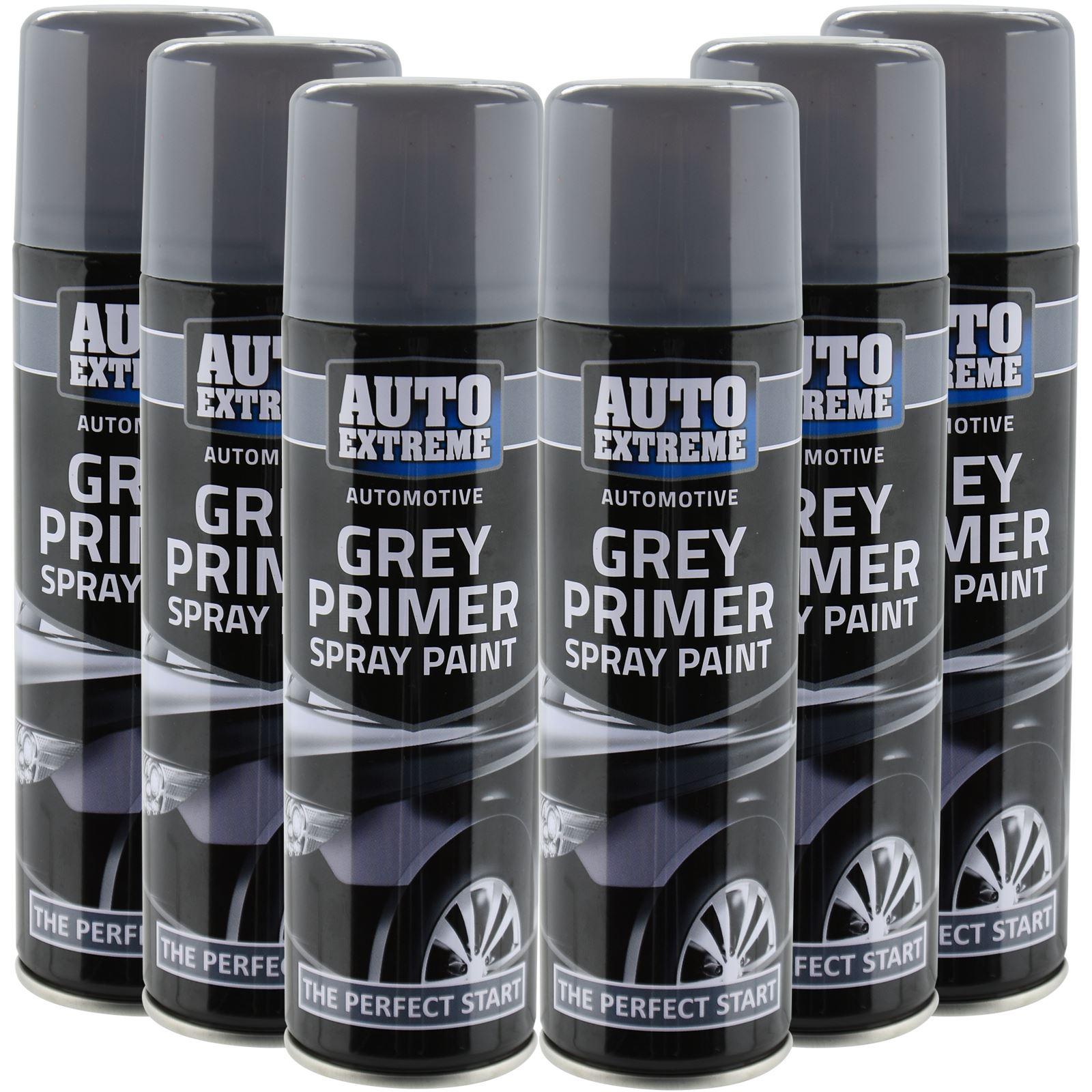 Automotive Grey Primer Spray Paint 250ml Aersol Fast Dry Metal Interior Exterior Ebay