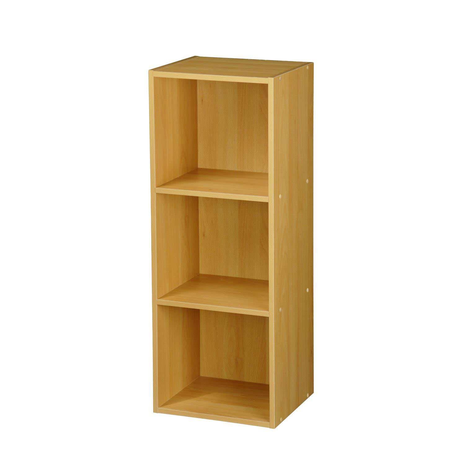 Wooden-Storage-Unit-Cube-2-3-4-Tier-Strong-Bookcase-Shelving-Home-Office-Display thumbnail 8