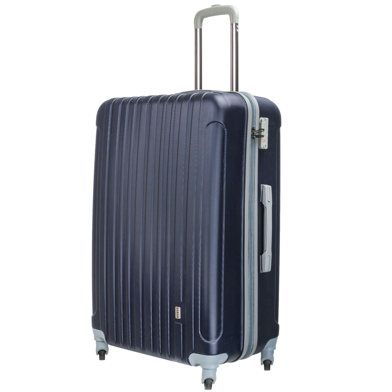 Luggage Set Hard Stipe Trolley Suitcase Spinner Wheels