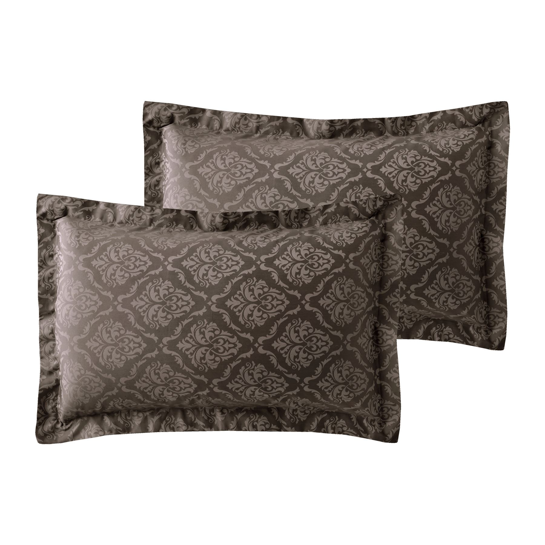 600-Thread-Count-Jacquard-Cotton-Rich-Damask-Duvet-Cover-With-Oxford-Pillowcases thumbnail 5