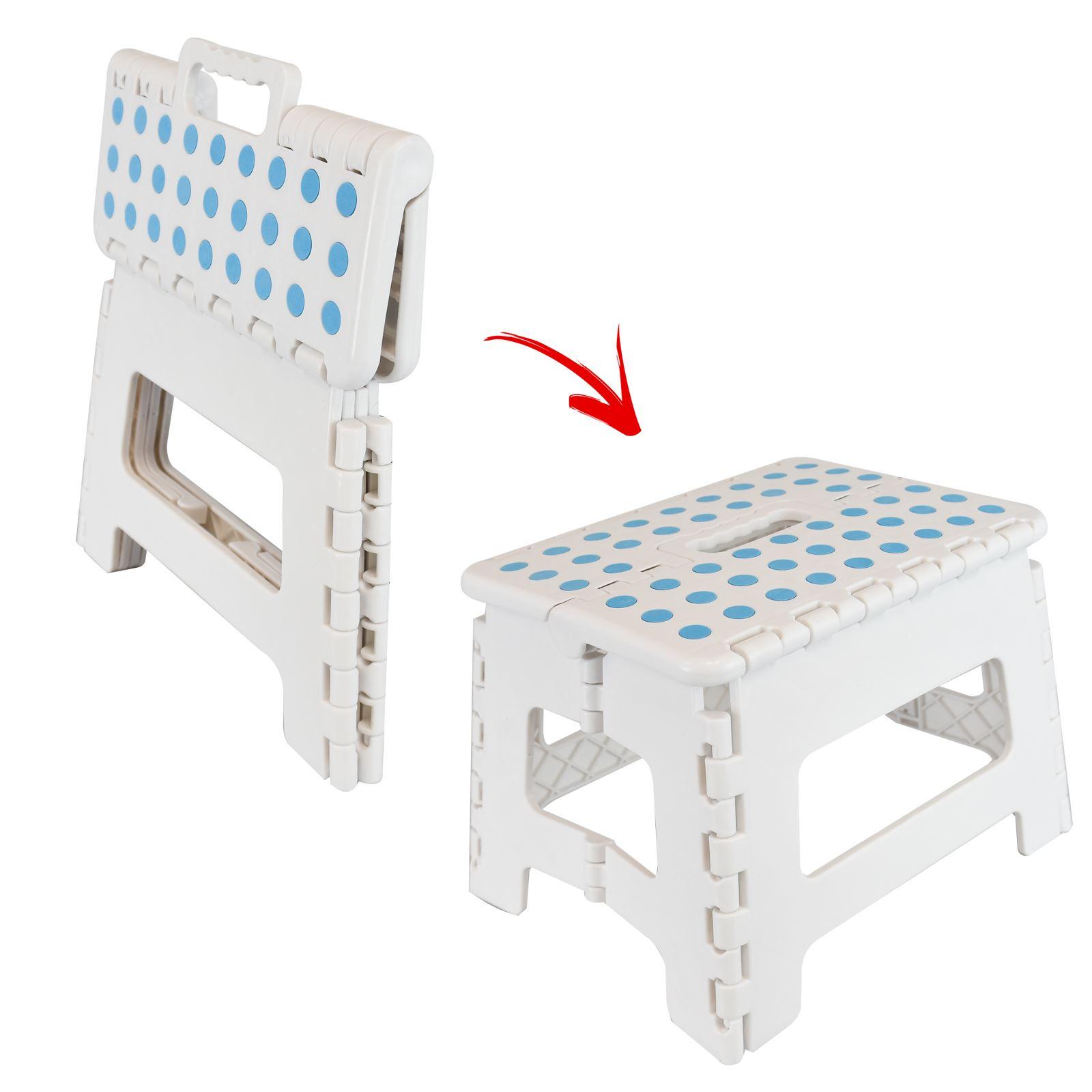 Small Multi Purpose Fold Step Stool Plastic Home Kitchen
