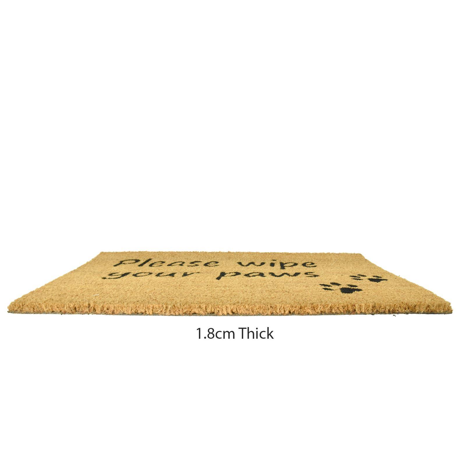 Plain-Non-Slip-Door-Mat-Tough-Natural-Coir-PVC-Back-Welcome-Doormat-40-x-60cm miniatura 103