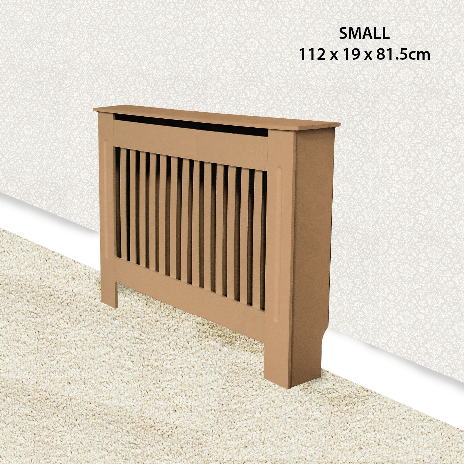 Traditional-Radiator-Cover-Cabinet-Vertical-Slatted-MDF-Wood-Small-Large-Unit thumbnail 15